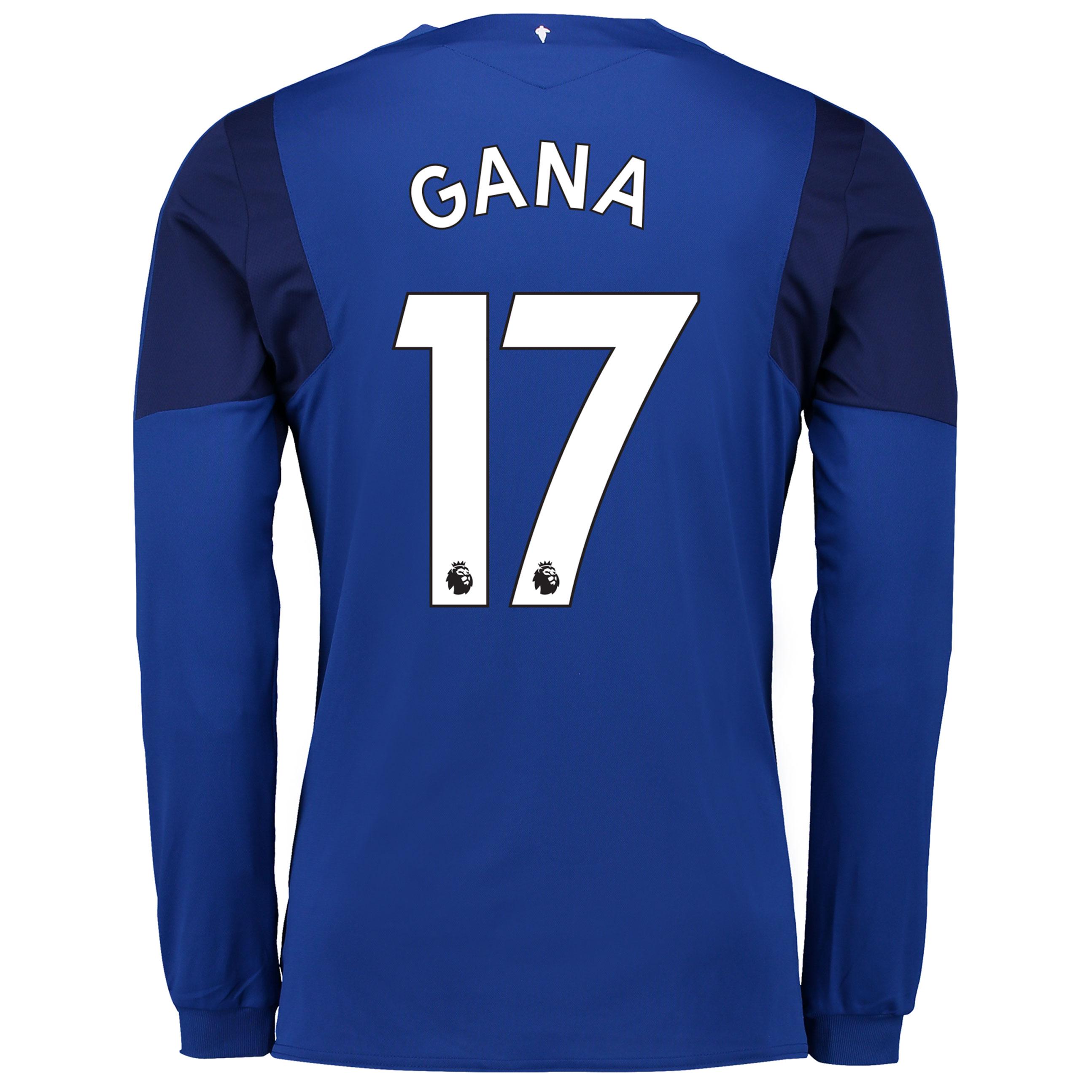 Everton Home Shirt 2017/18 - Long Sleeved with Gana 17 printing
