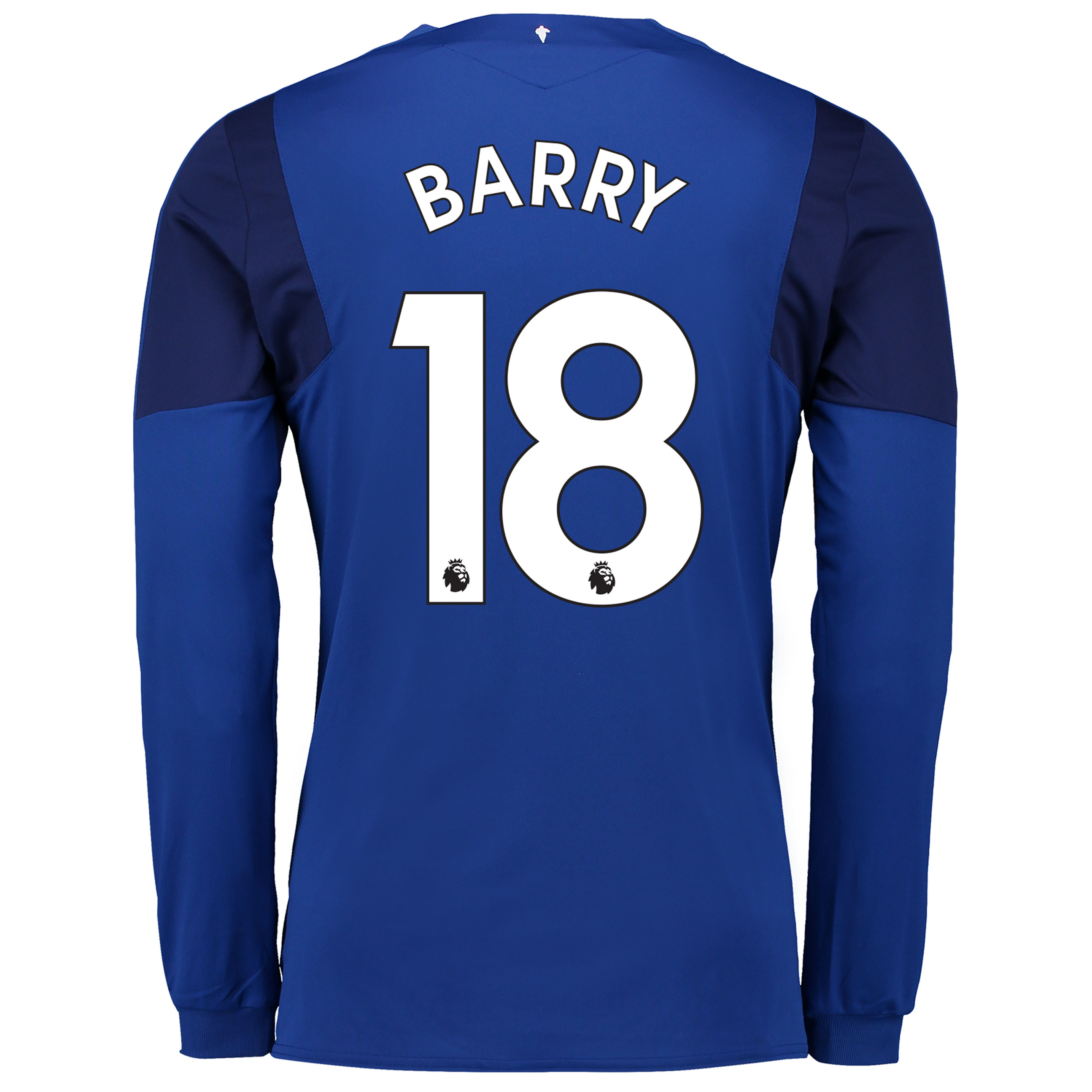 Everton Home Shirt 2017/18 - Long Sleeved with Barry 18 printing