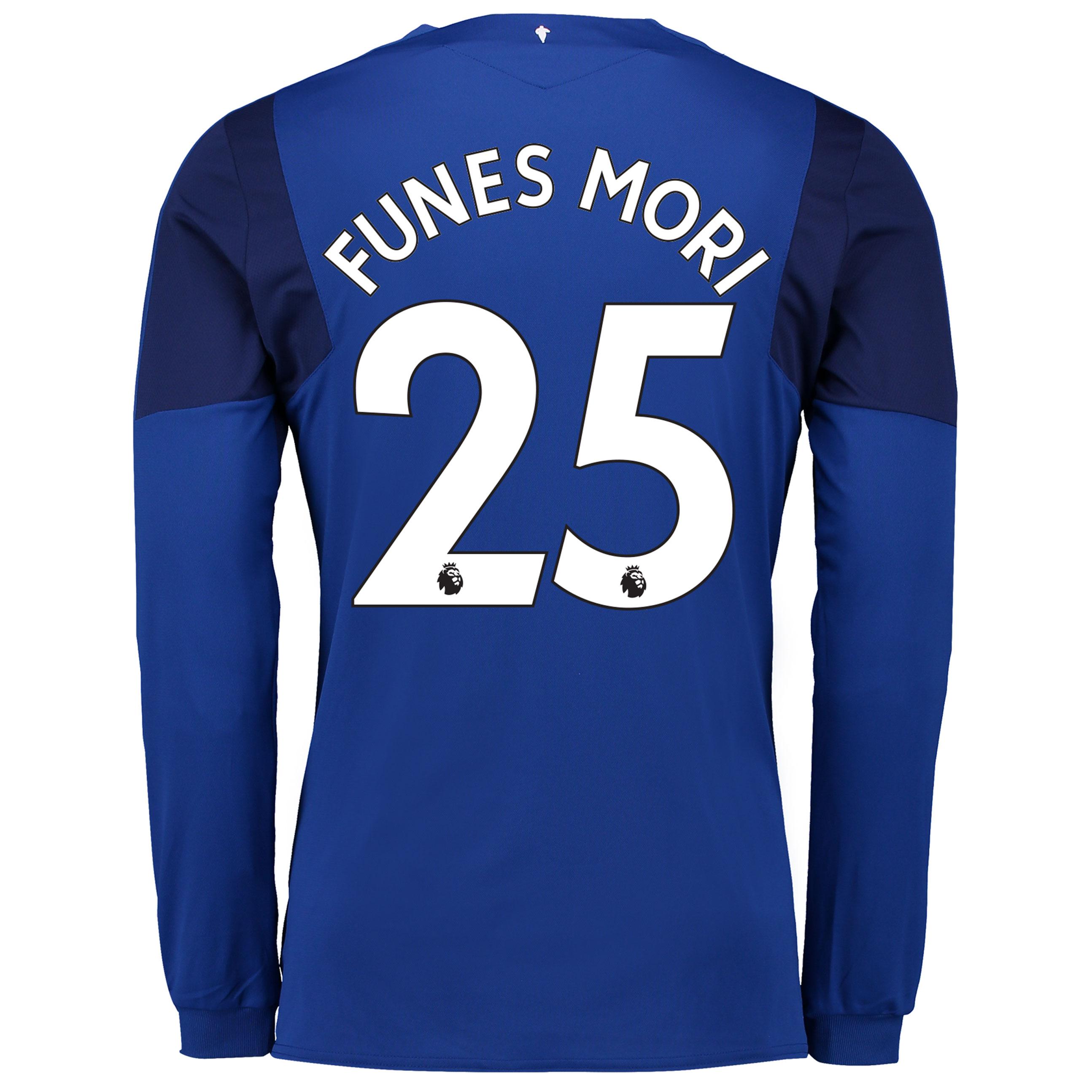 Everton Home Shirt 2017/18 - Long Sleeved with Funes Mori 25 printing
