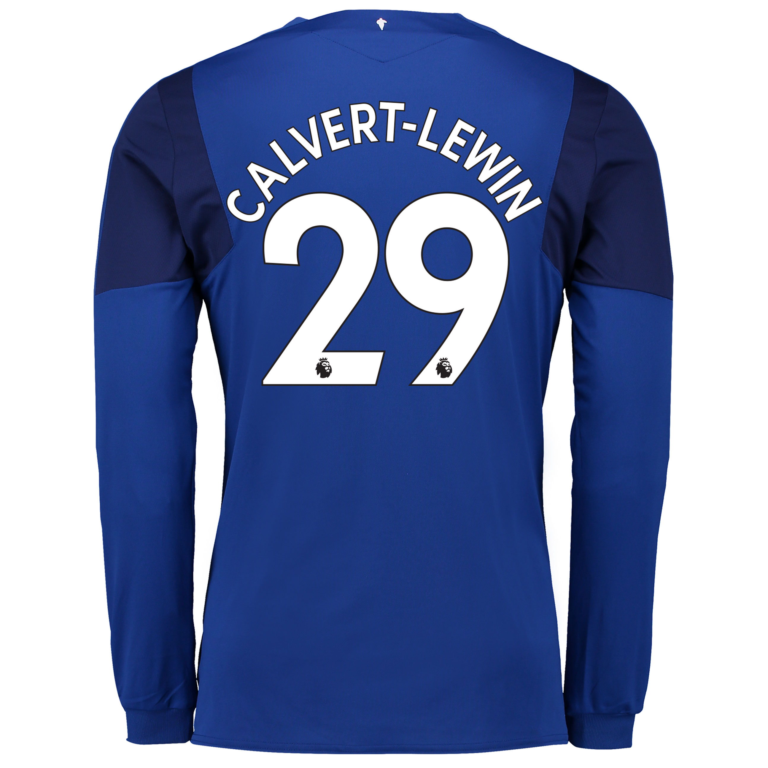 Everton Home Shirt 2017/18 - Long Sleeved with Calvert-Lewin 29 printi