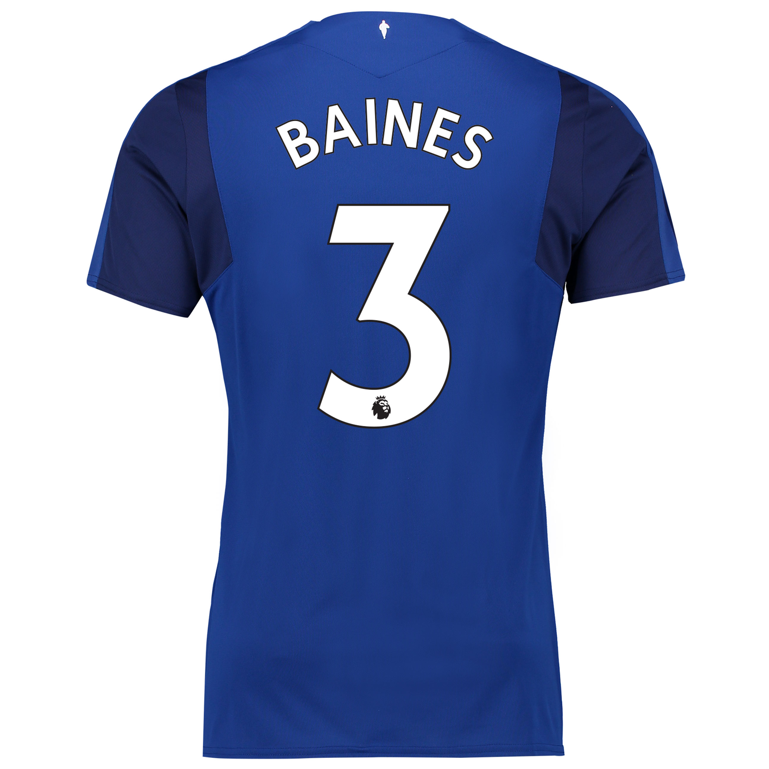Everton Home Shirt 2017/18 - Junior with Baines 3 printing