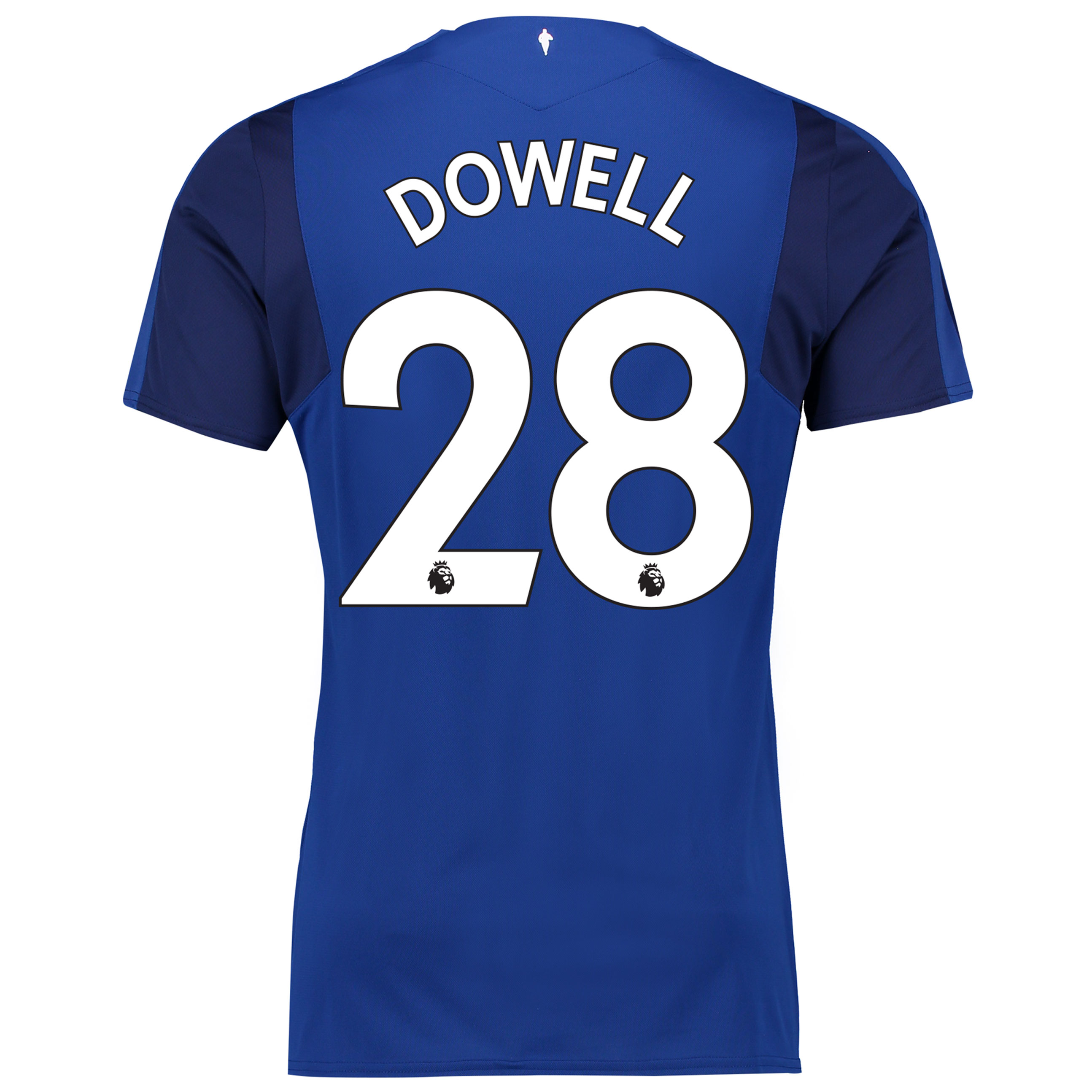Everton Home Shirt 2017/18 - Junior with Dowell 28 printing