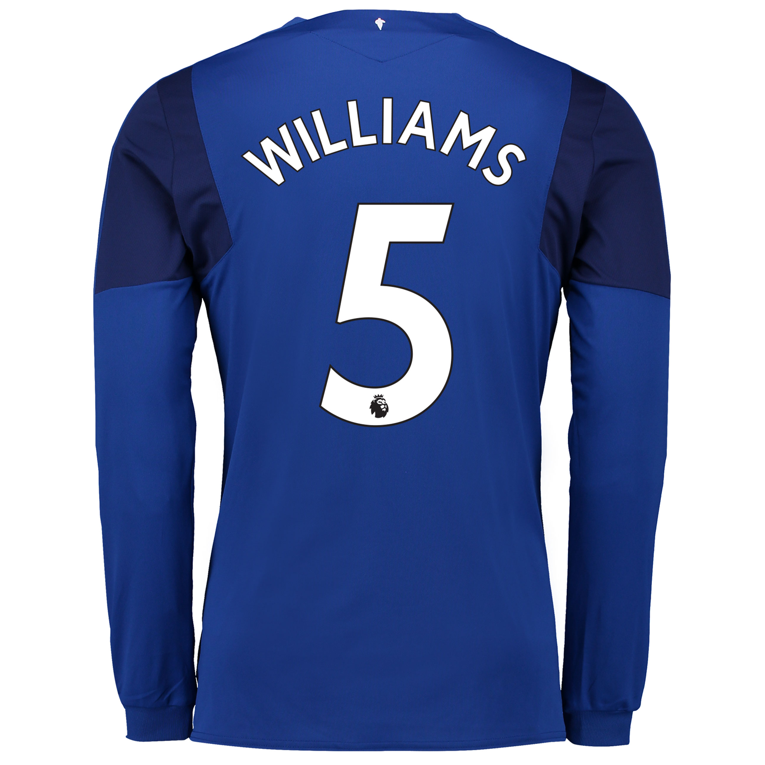Everton Home Shirt 2017/18 - Junior - Long Sleeved with Williams 5 pri