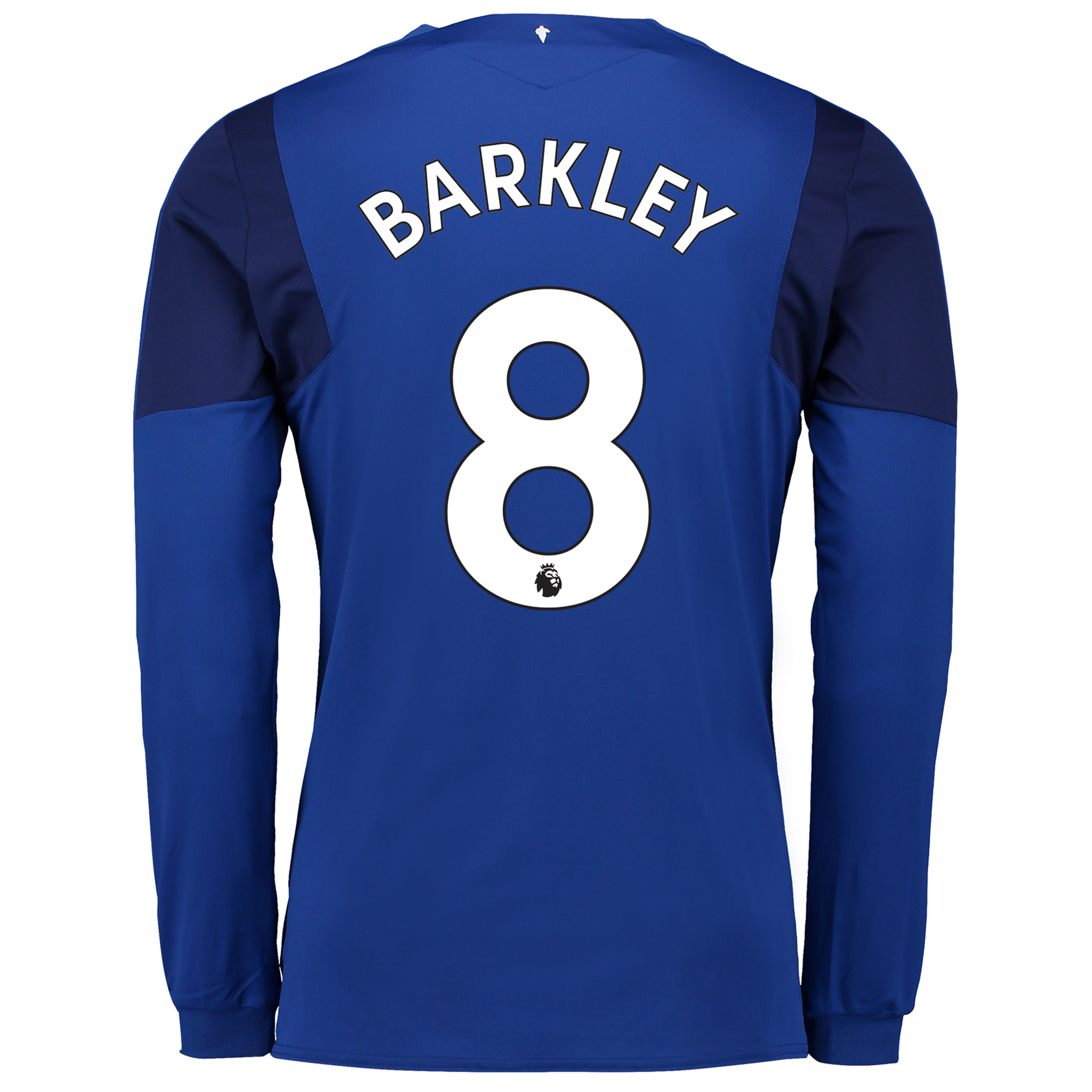 Everton Home Shirt 2017/18 - Junior - Long Sleeved with Barkley 8 prin