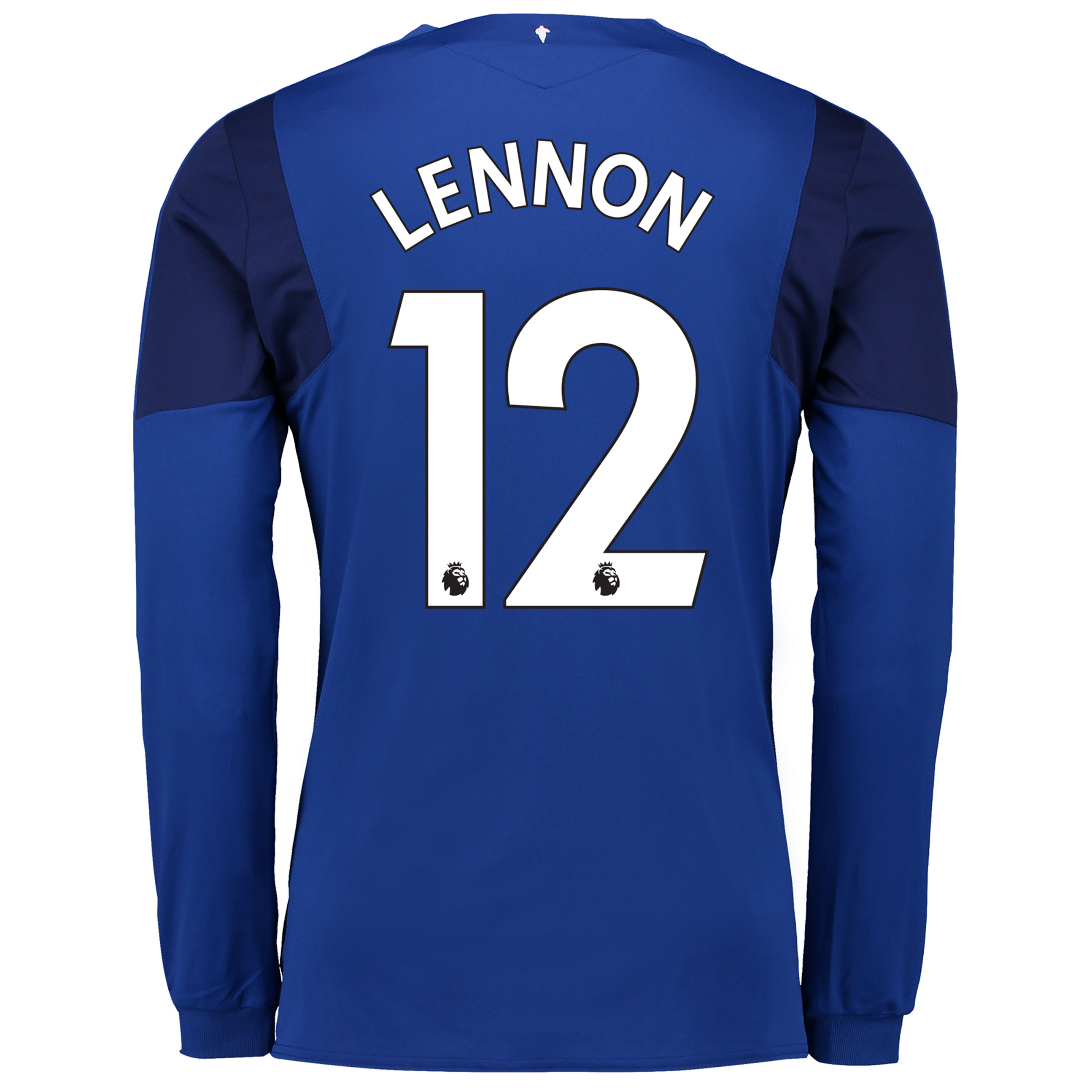 Everton Home Shirt 2017/18 - Junior - Long Sleeved with Lennon 12 prin