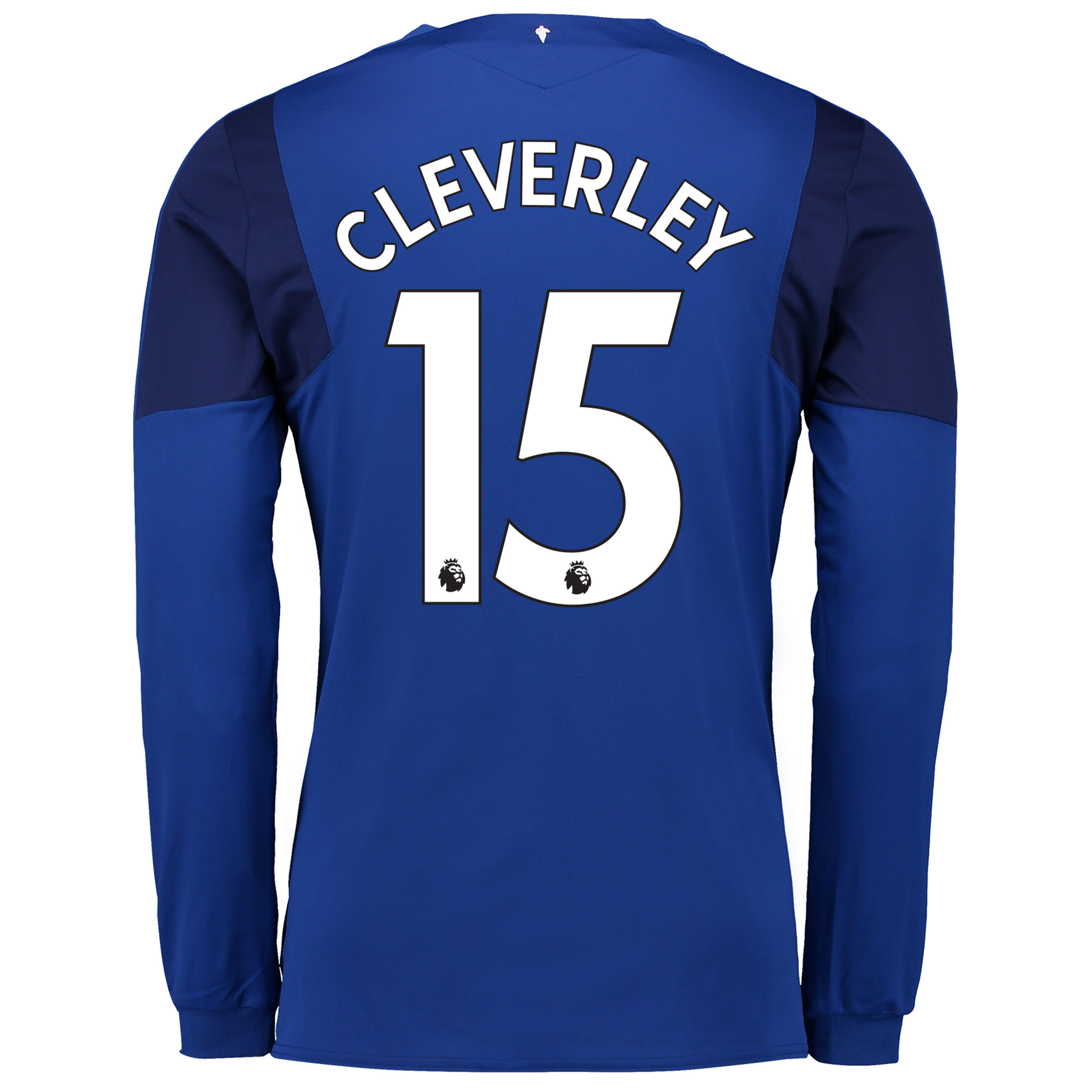 Everton Home Shirt 2017/18 - Junior - Long Sleeved with Cleverley 15 p