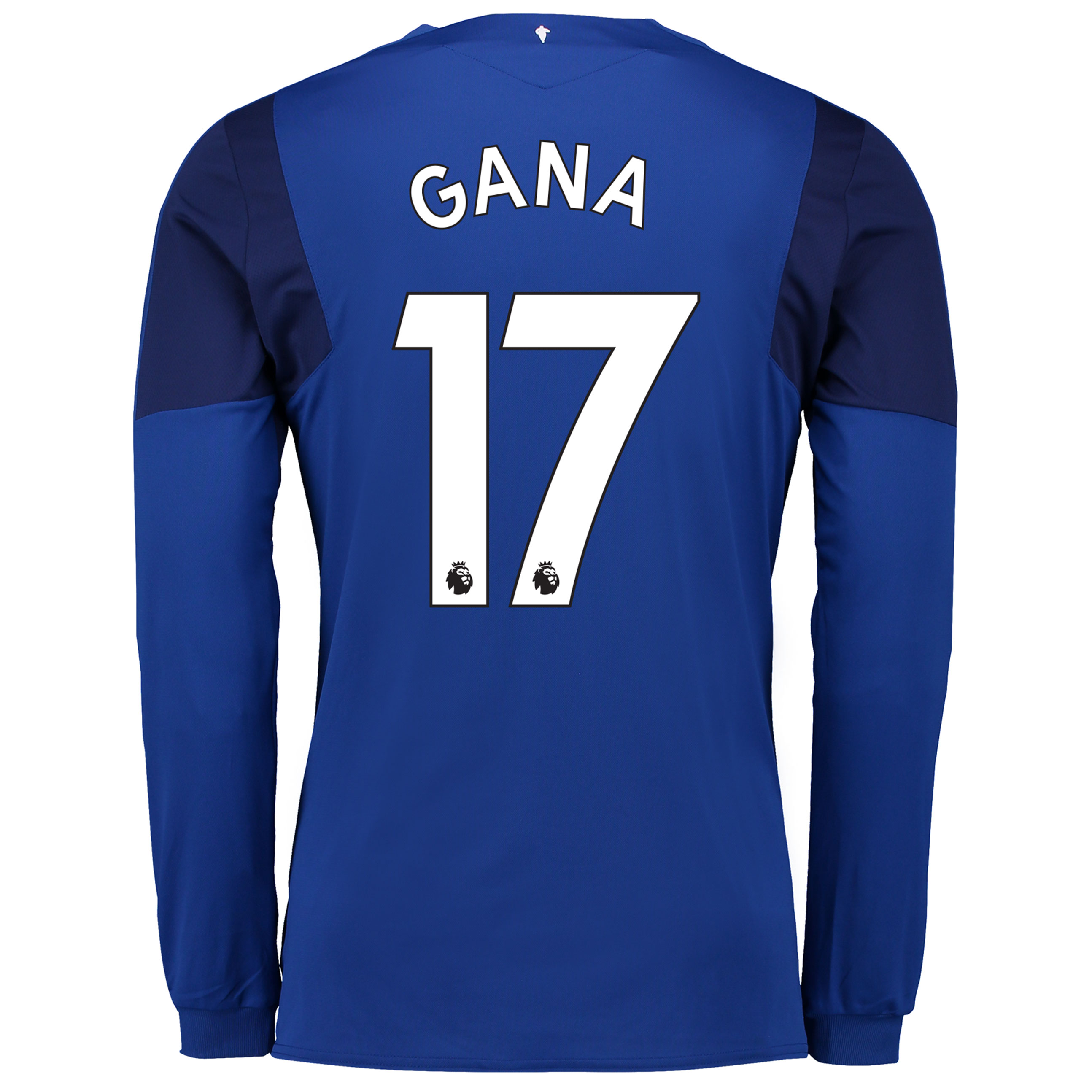 Everton Home Shirt 2017/18 - Junior - Long Sleeved with Gana 17 printi