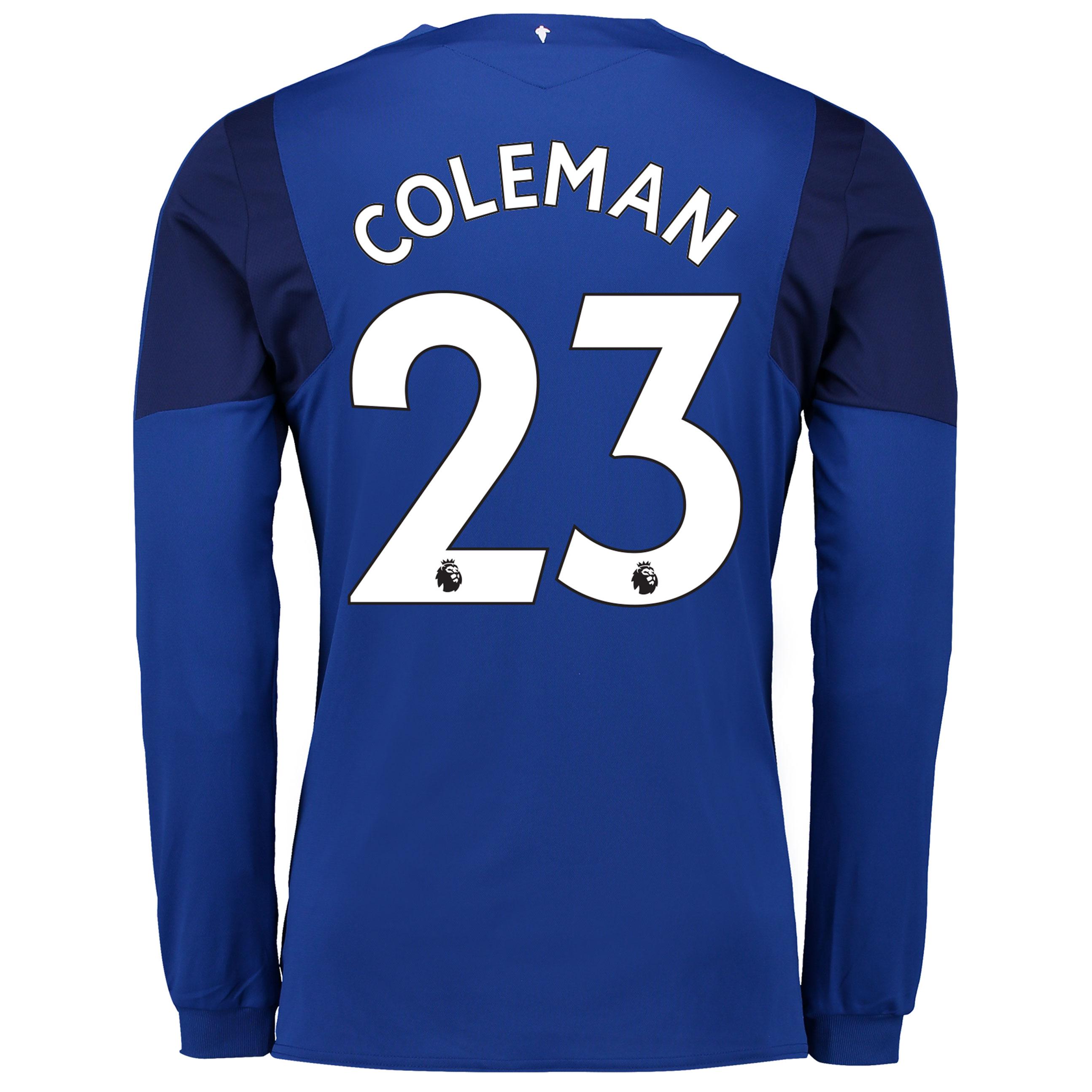 Everton Home Shirt 2017/18 - Junior - Long Sleeved with Coleman 23 pri