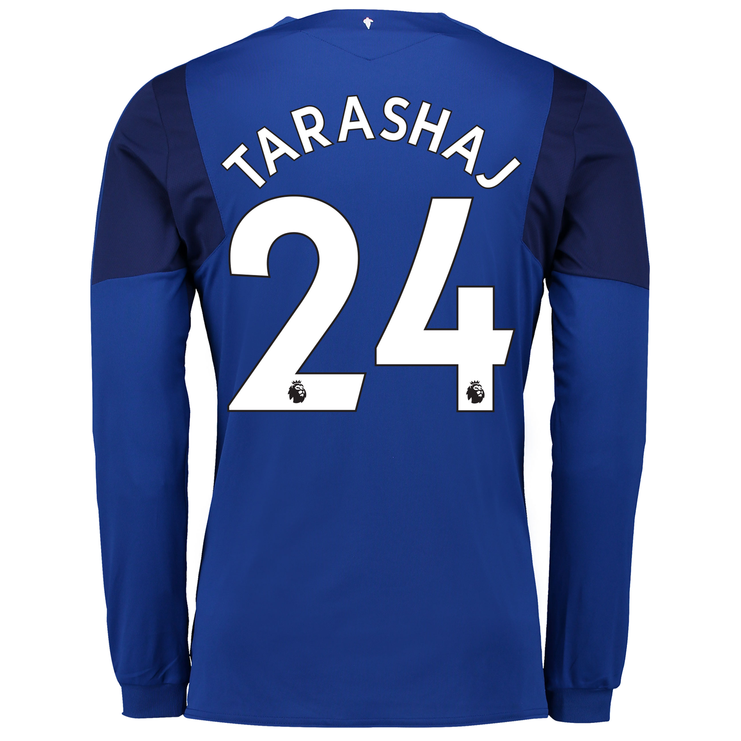 Everton Home Shirt 2017/18 - Junior - Long Sleeved with Tarashaj 24 pr