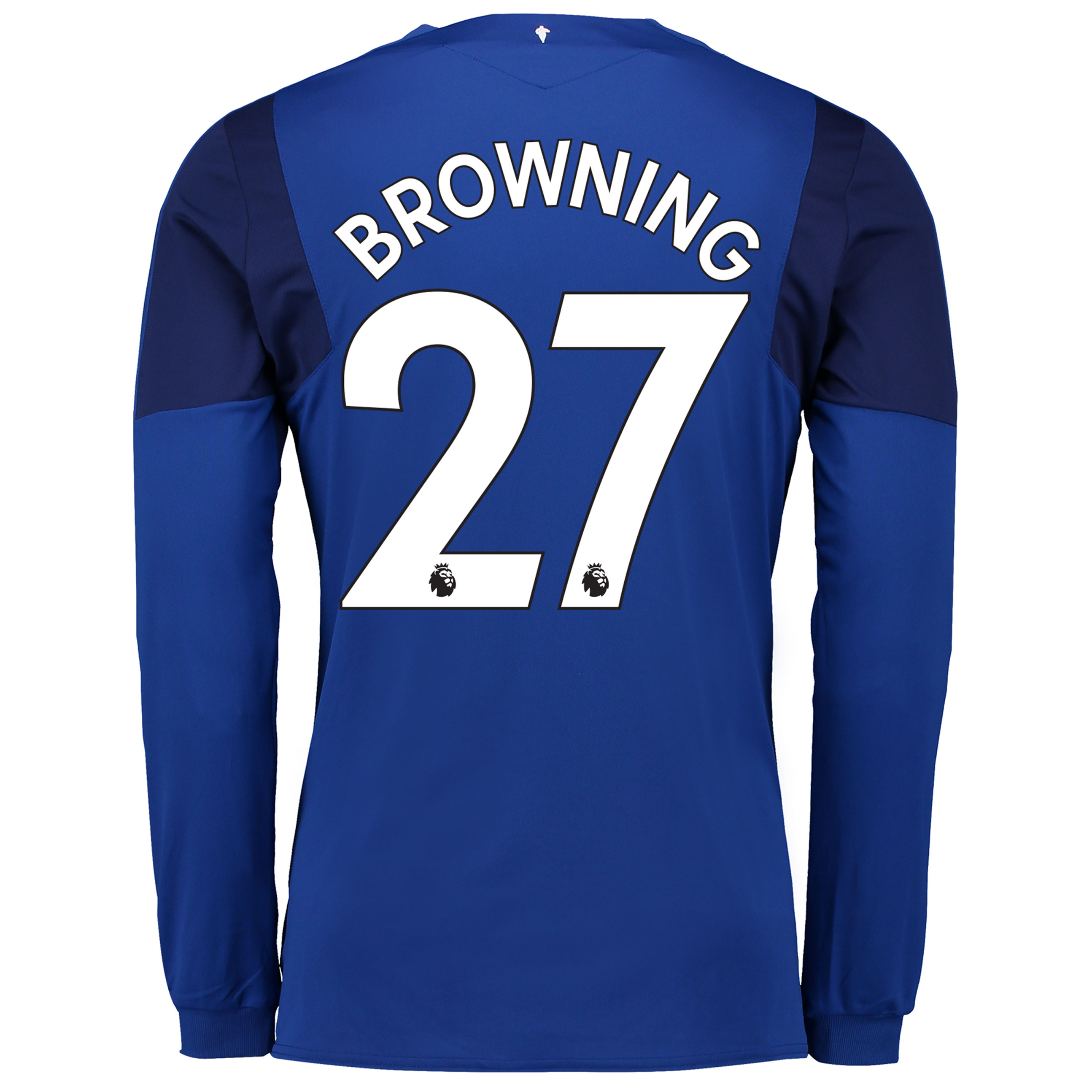 Everton Home Shirt 2017/18 - Junior - Long Sleeved with Browning 27 pr