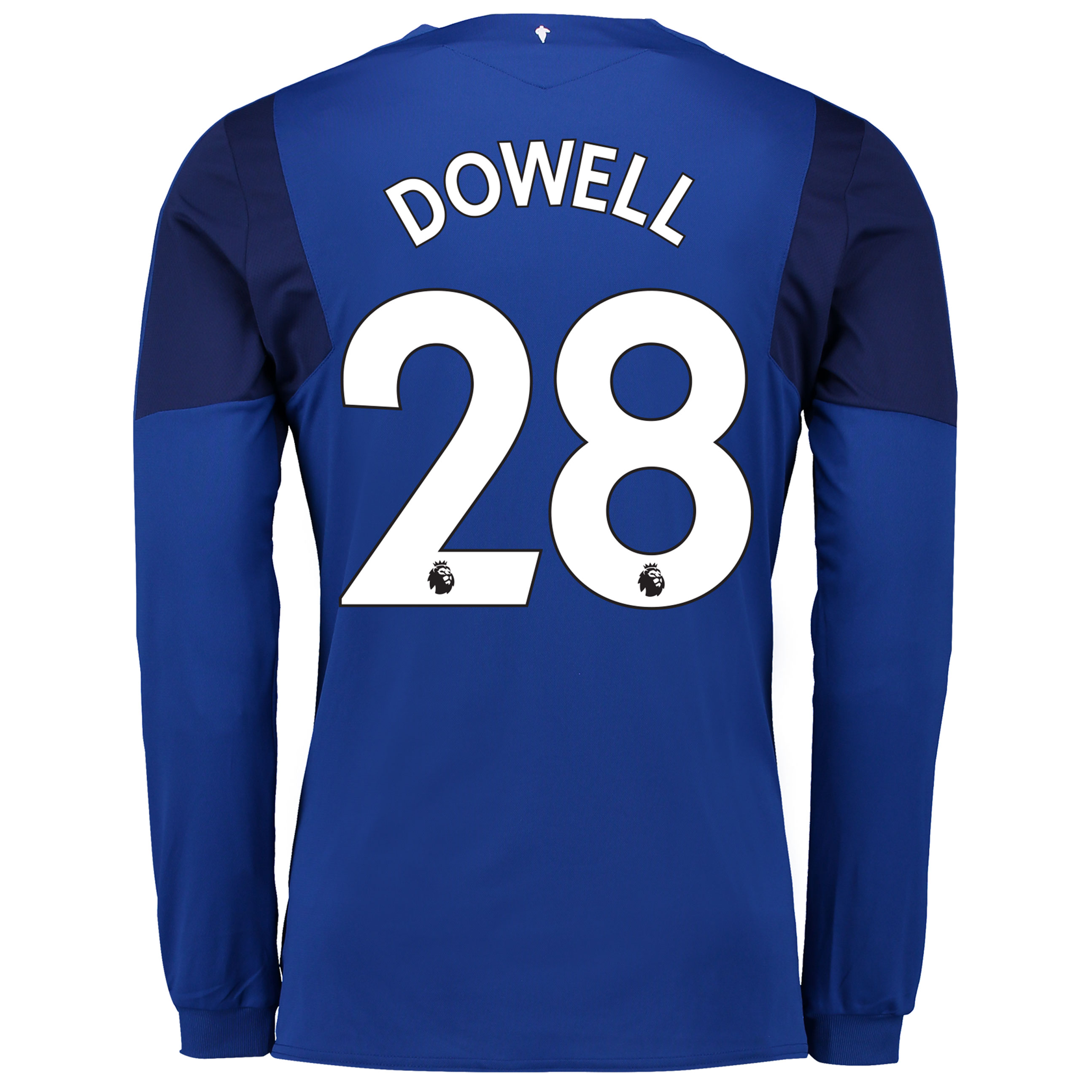 Everton Home Shirt 2017/18 - Junior - Long Sleeved with Dowell 28 prin