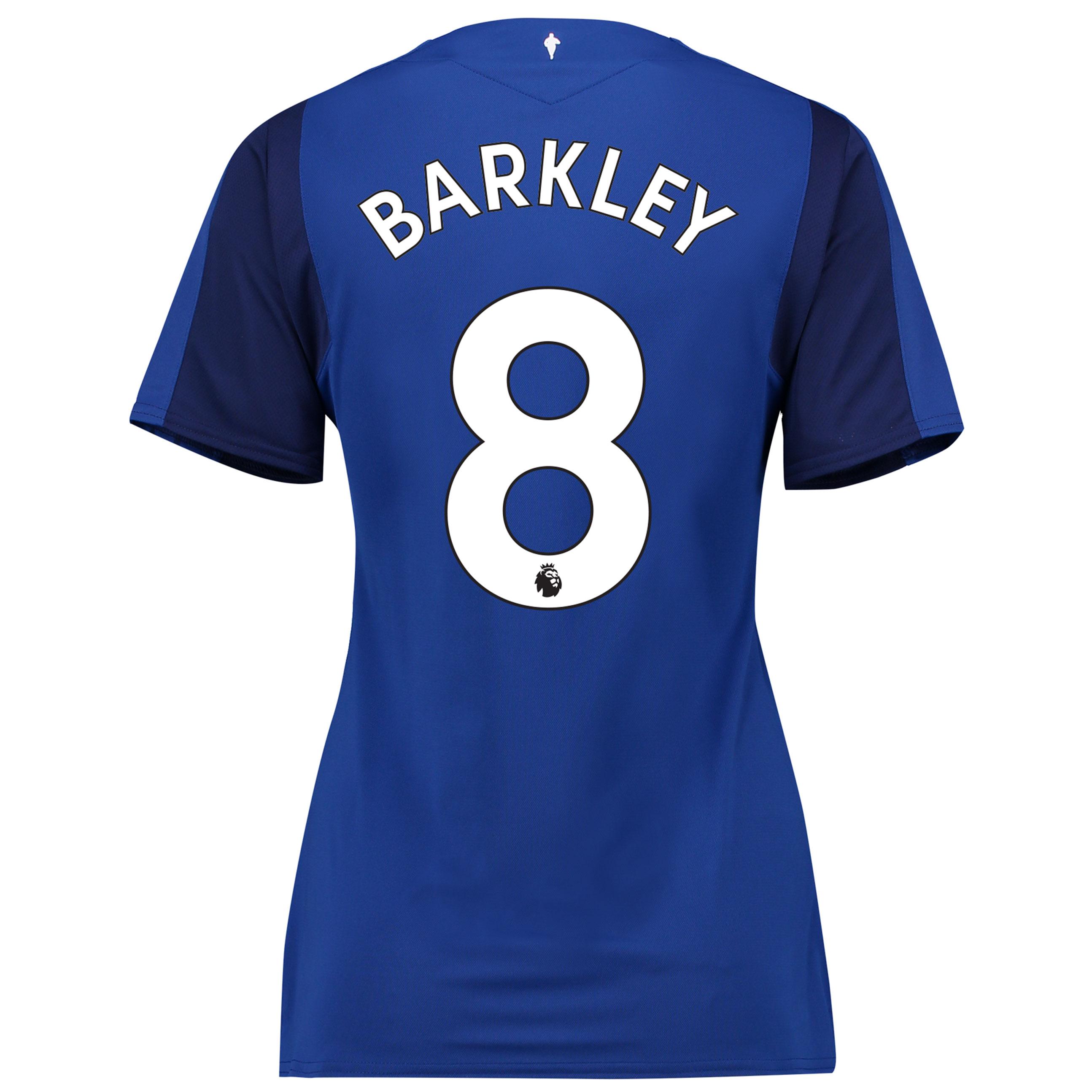 Everton Home Shirt 2017/18 - Womens with Barkley 8 printing