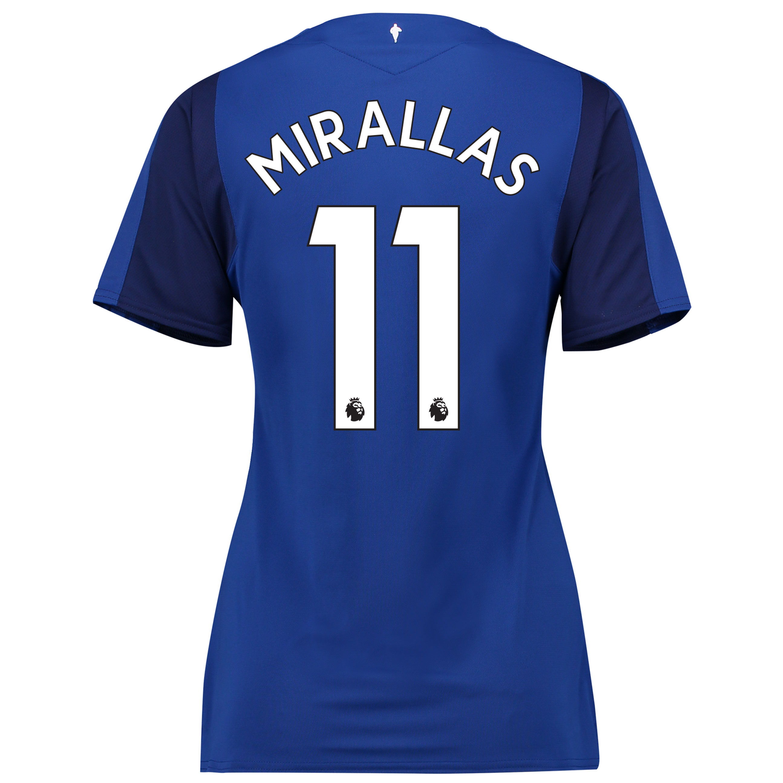 Everton Home Shirt 2017/18 - Womens with Mirallas 11 printing