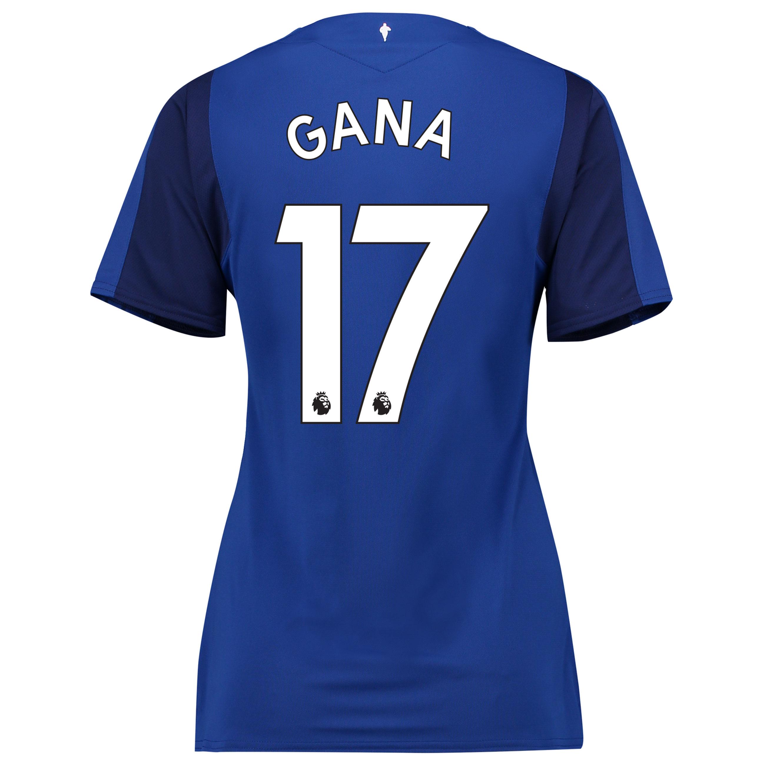 Everton Home Shirt 2017/18 - Womens with Gana 17 printing