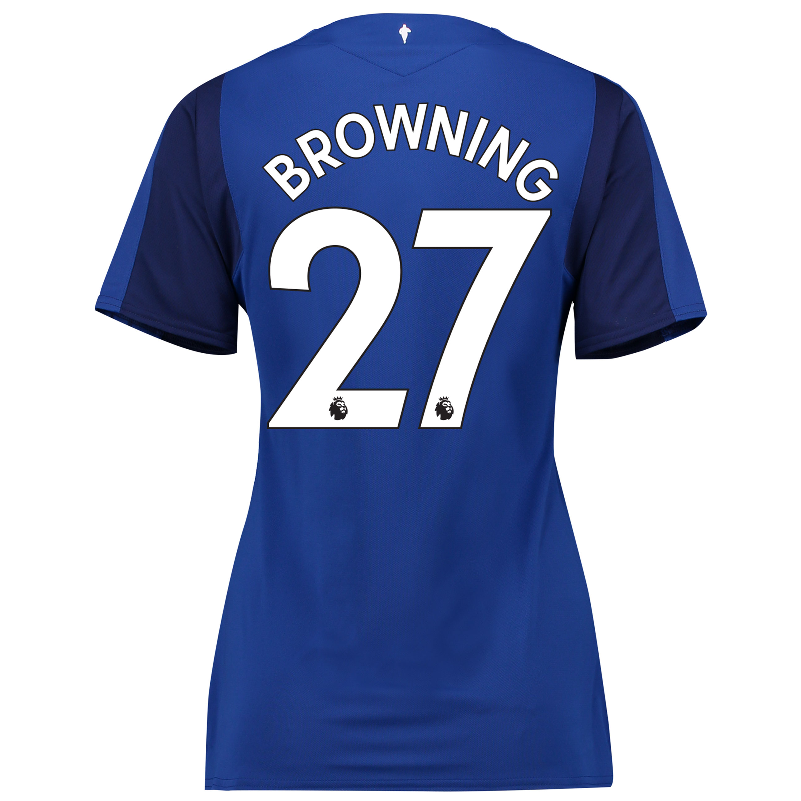 Everton Home Shirt 2017/18 - Womens with Browning 27 printing