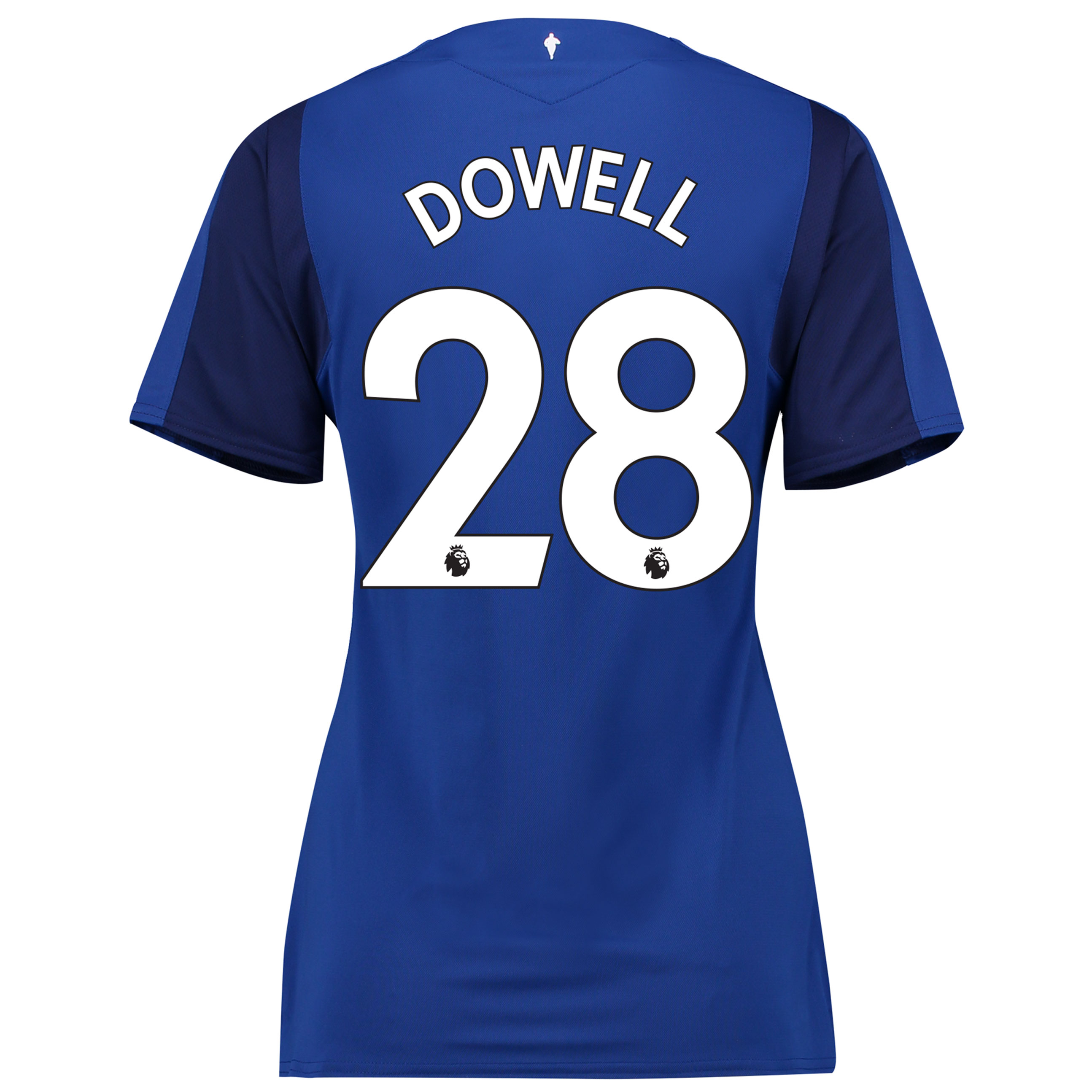 Everton Home Shirt 2017/18 - Womens with Dowell 28 printing