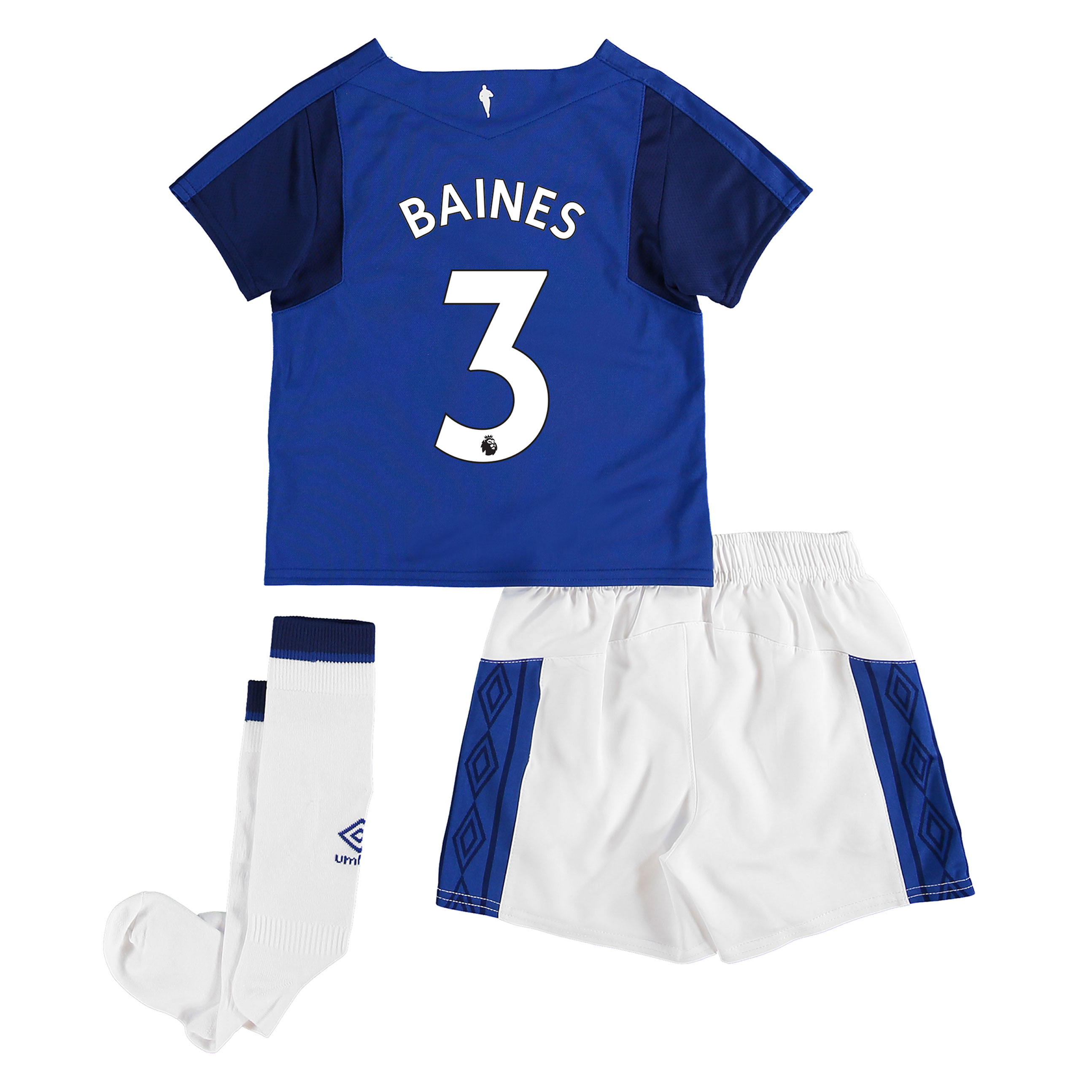 Everton Home Infant Kit 2017/18 with Baines 3 printing