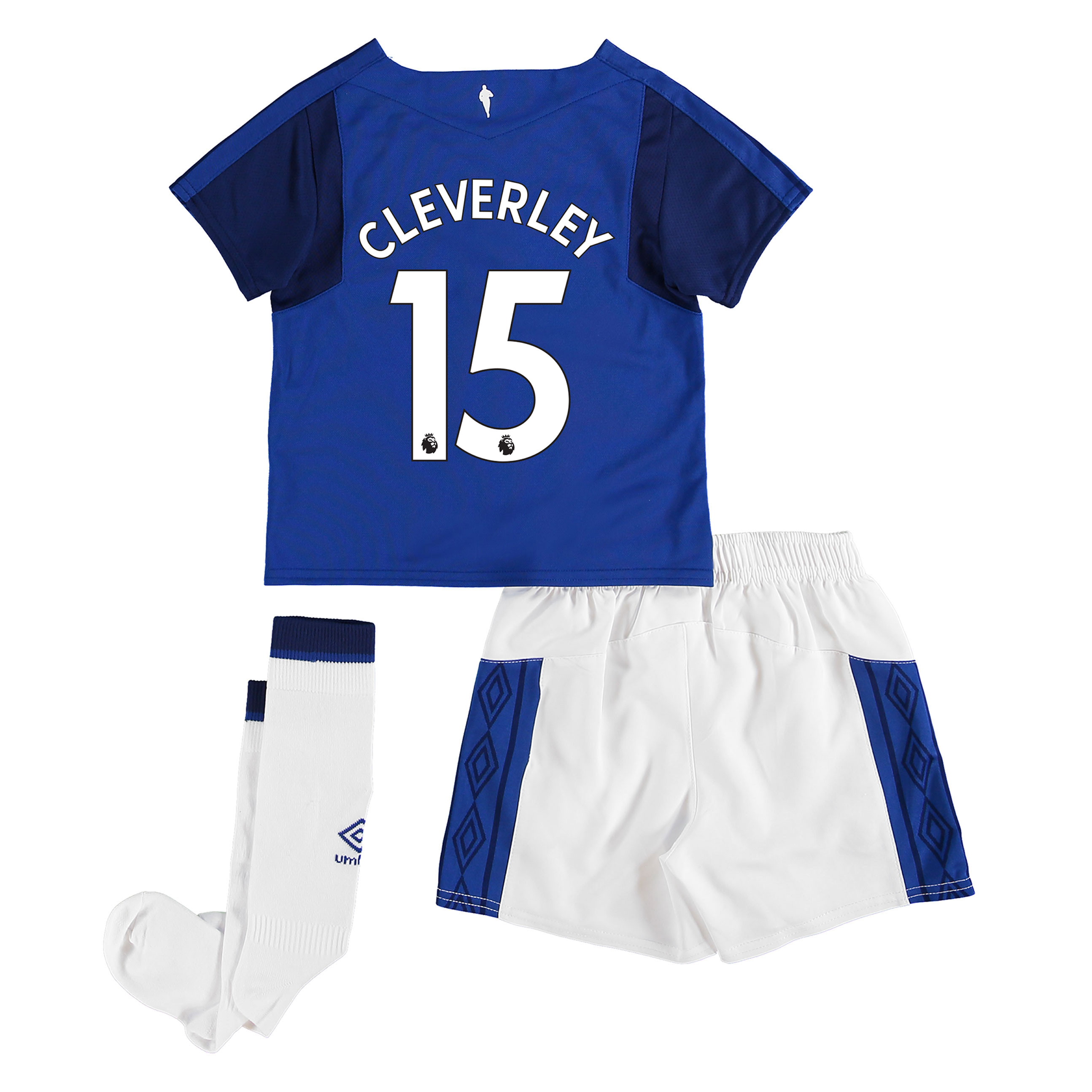 Everton Home Infant Kit 2017/18 with Cleverley 15 printing