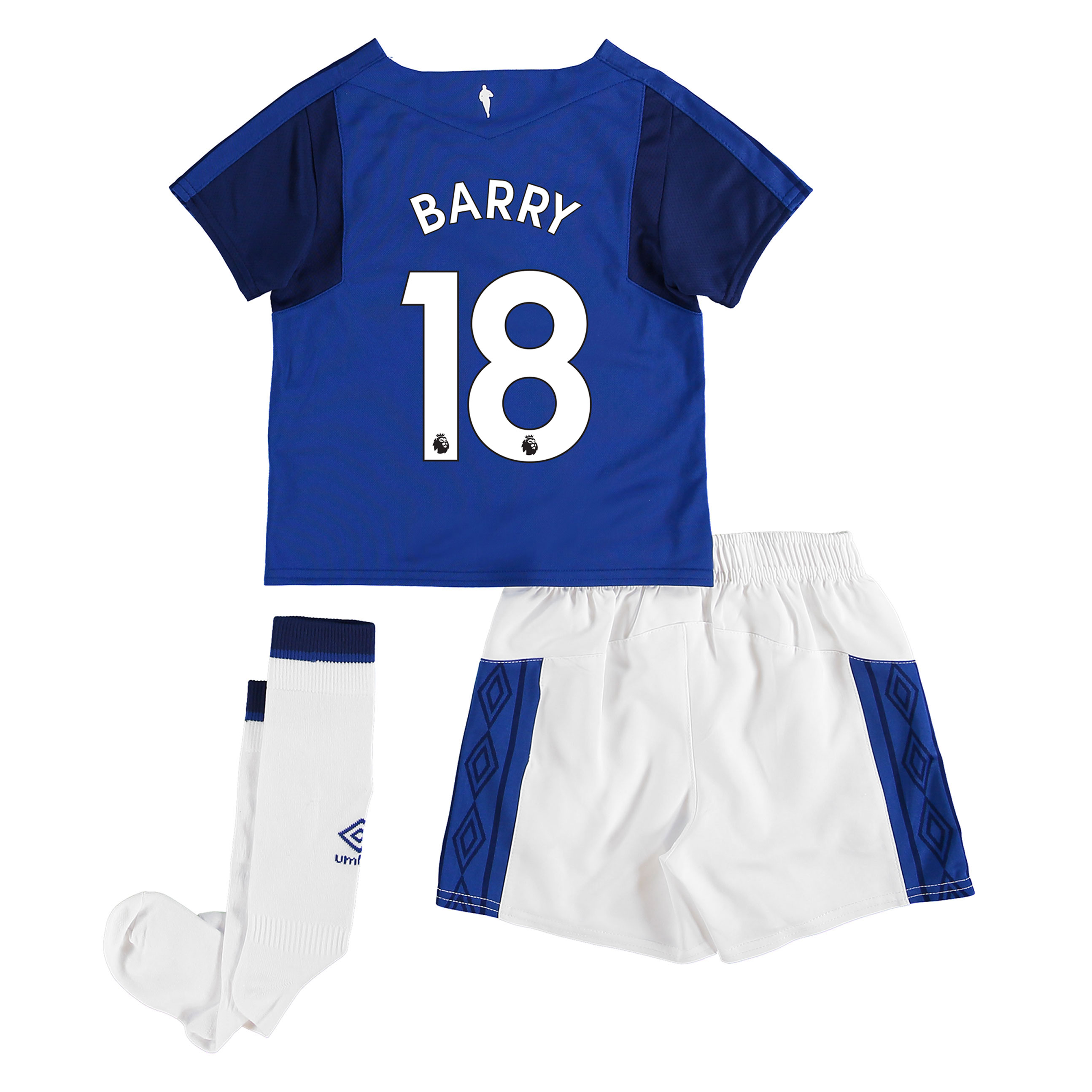 Everton Home Infant Kit 2017/18 with Barry 18 printing
