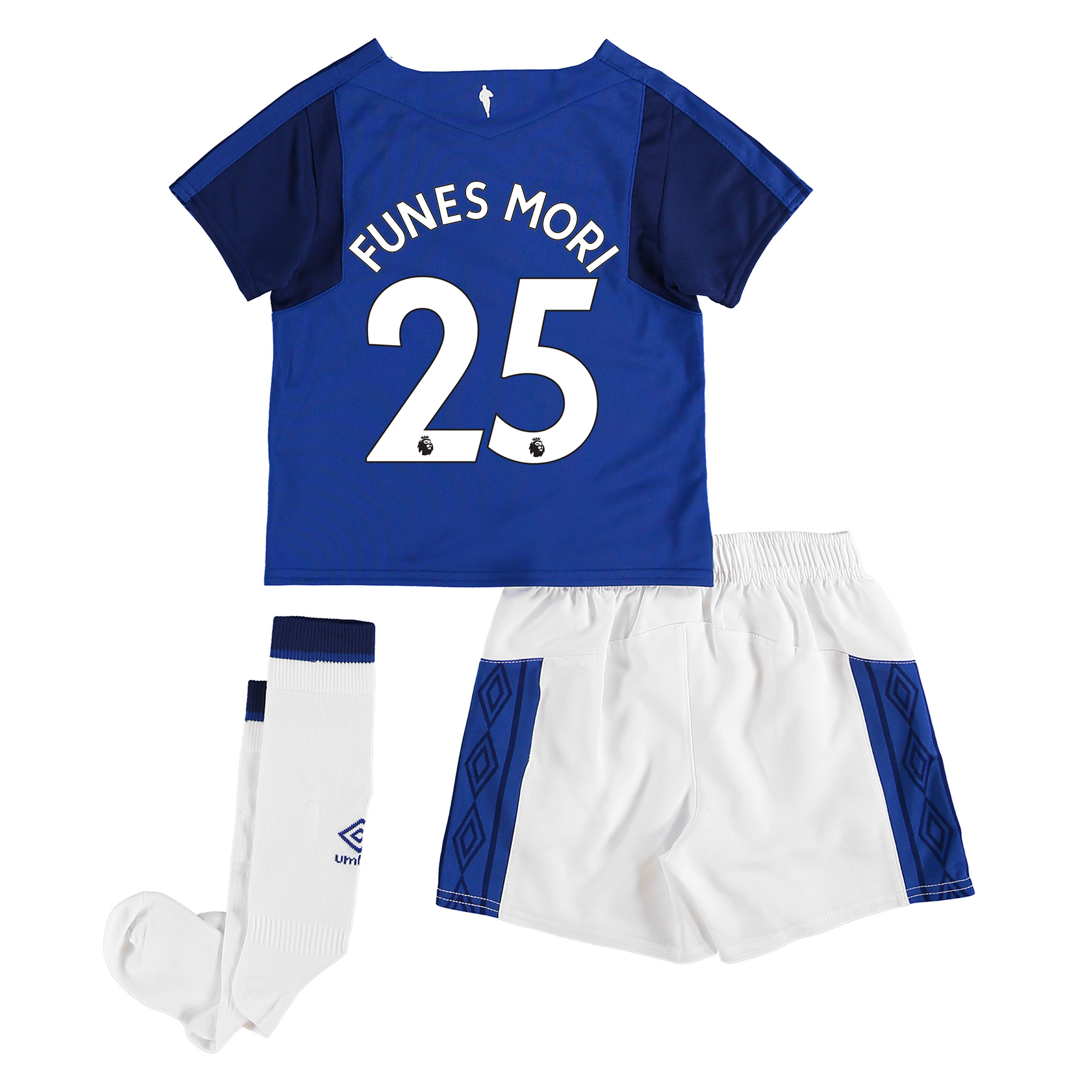Everton Home Infant Kit 2017/18 with Funes Mori 25 printing
