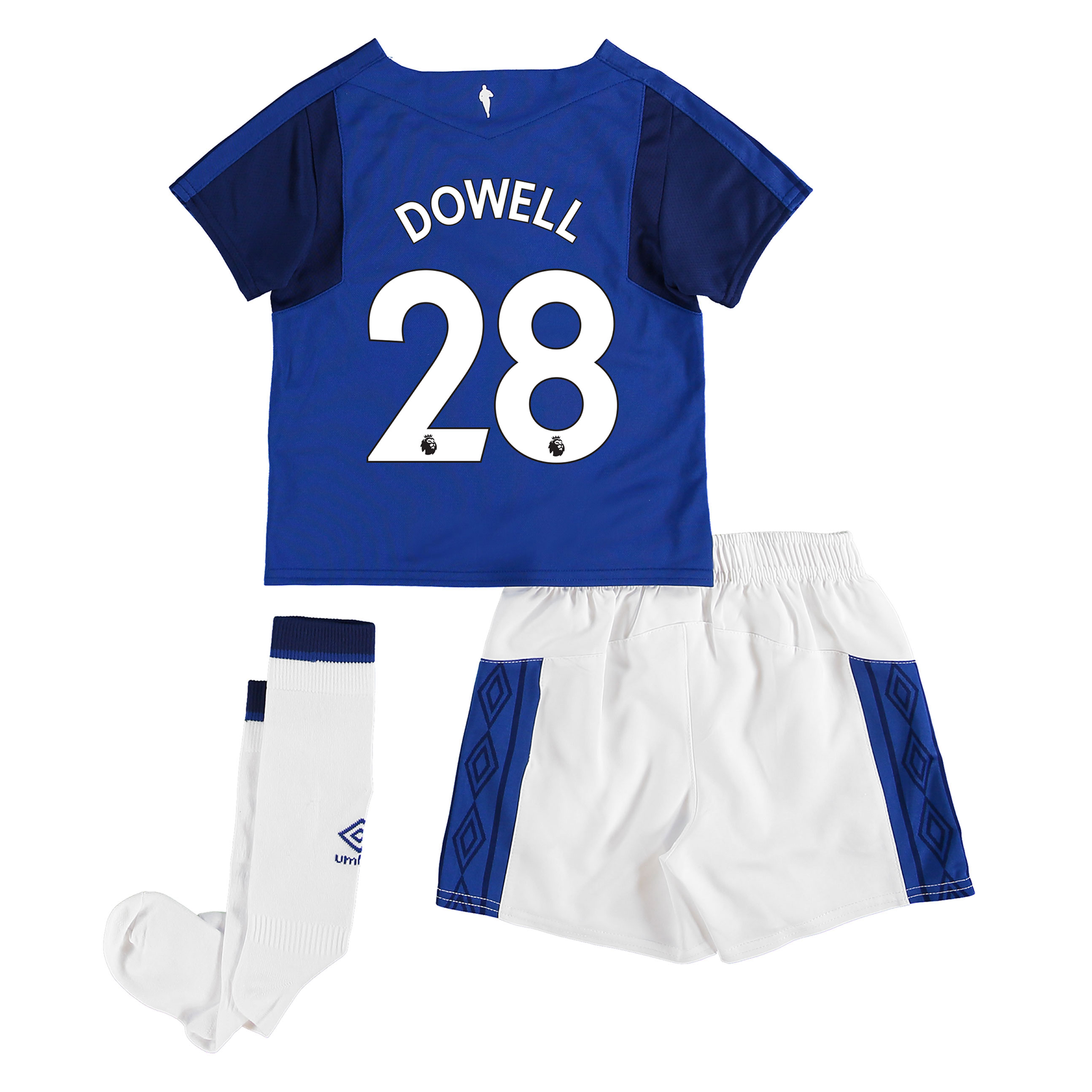 Everton Home Infant Kit 2017/18 with Dowell 28 printing