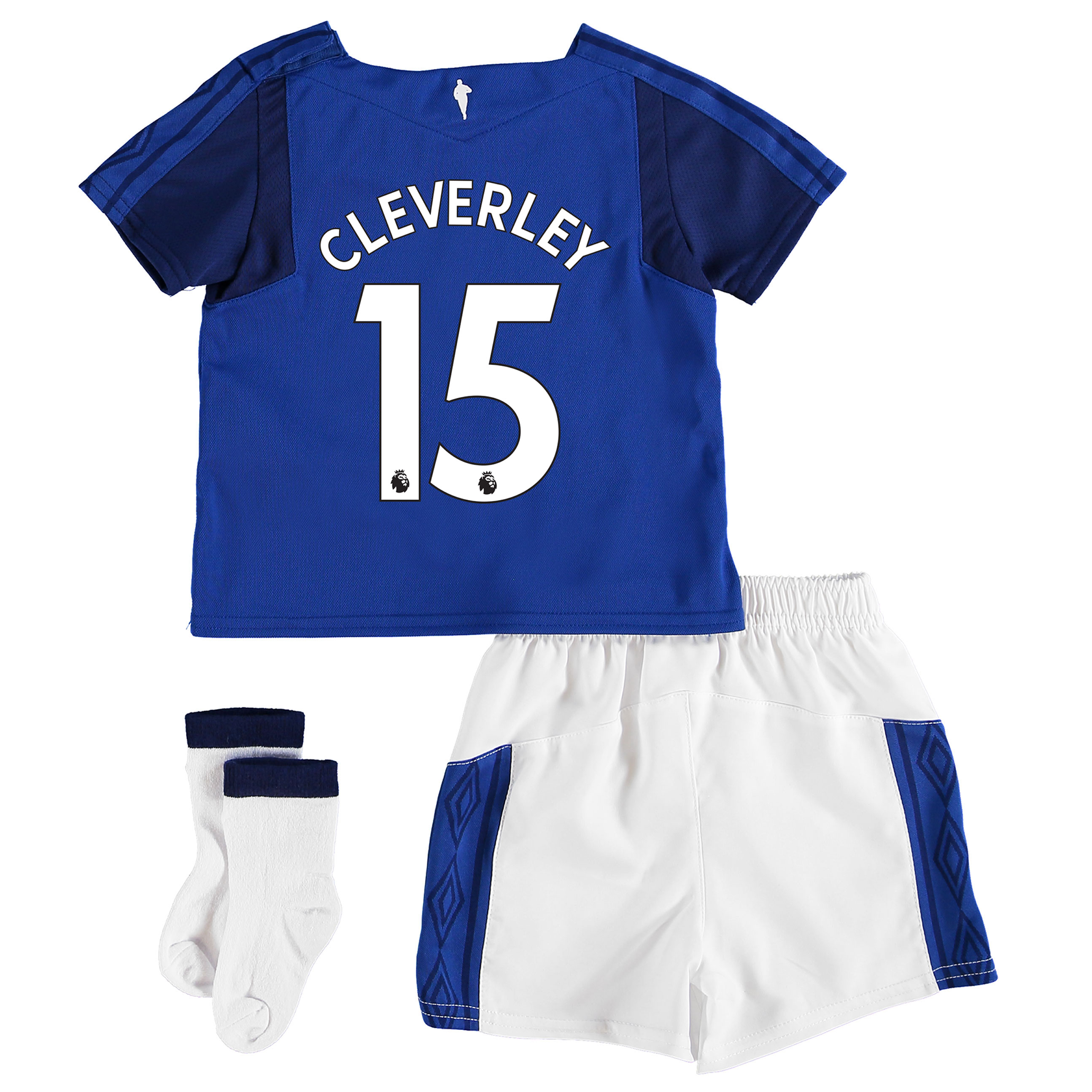 Everton Home Baby Kit 2017/18 with Cleverley 15 printing