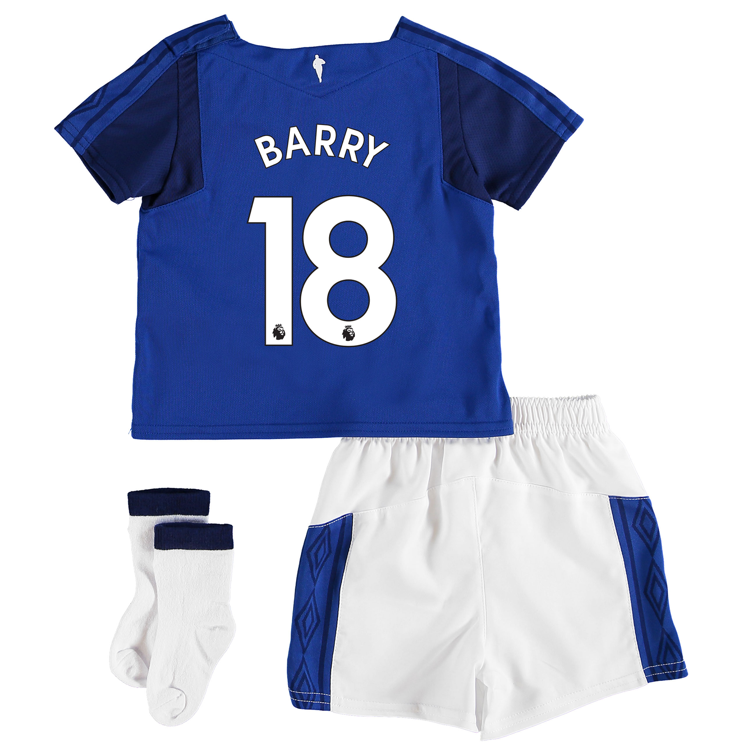 Everton Home Baby Kit 2017/18 with Barry 18 printing