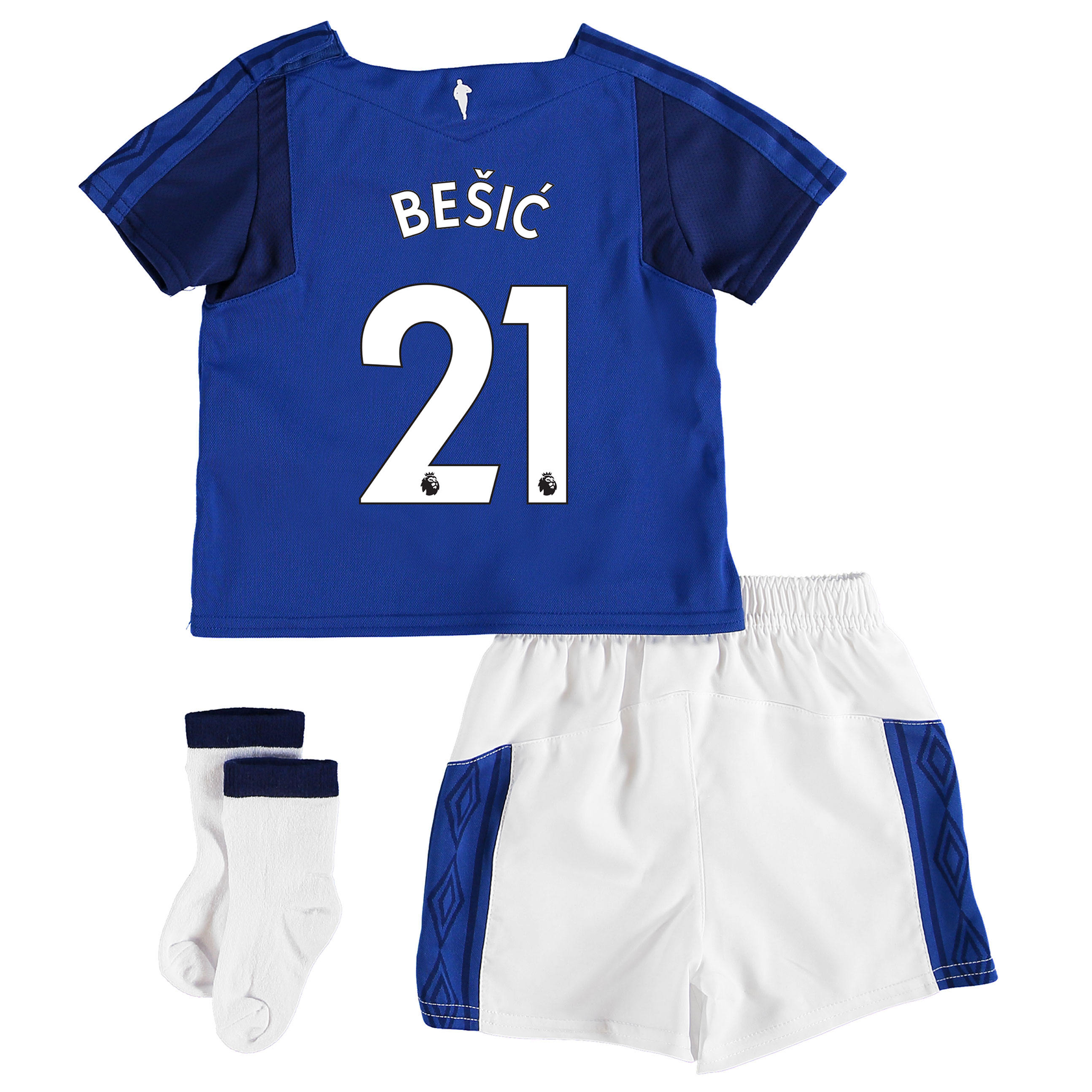 Everton Home Baby Kit 2017/18 with Be?íic 21 printing