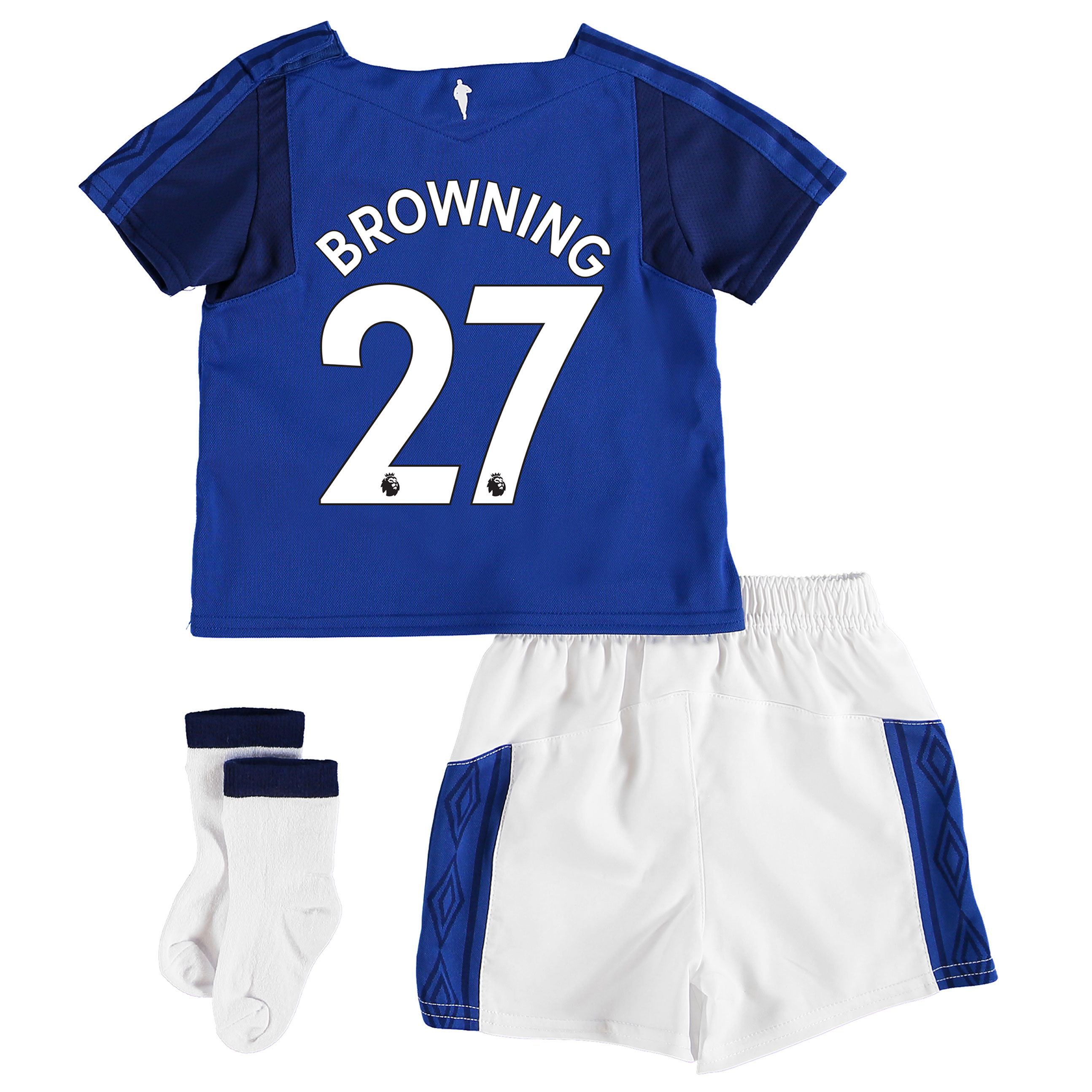 Everton Home Baby Kit 2017/18 with Browning 27 printing