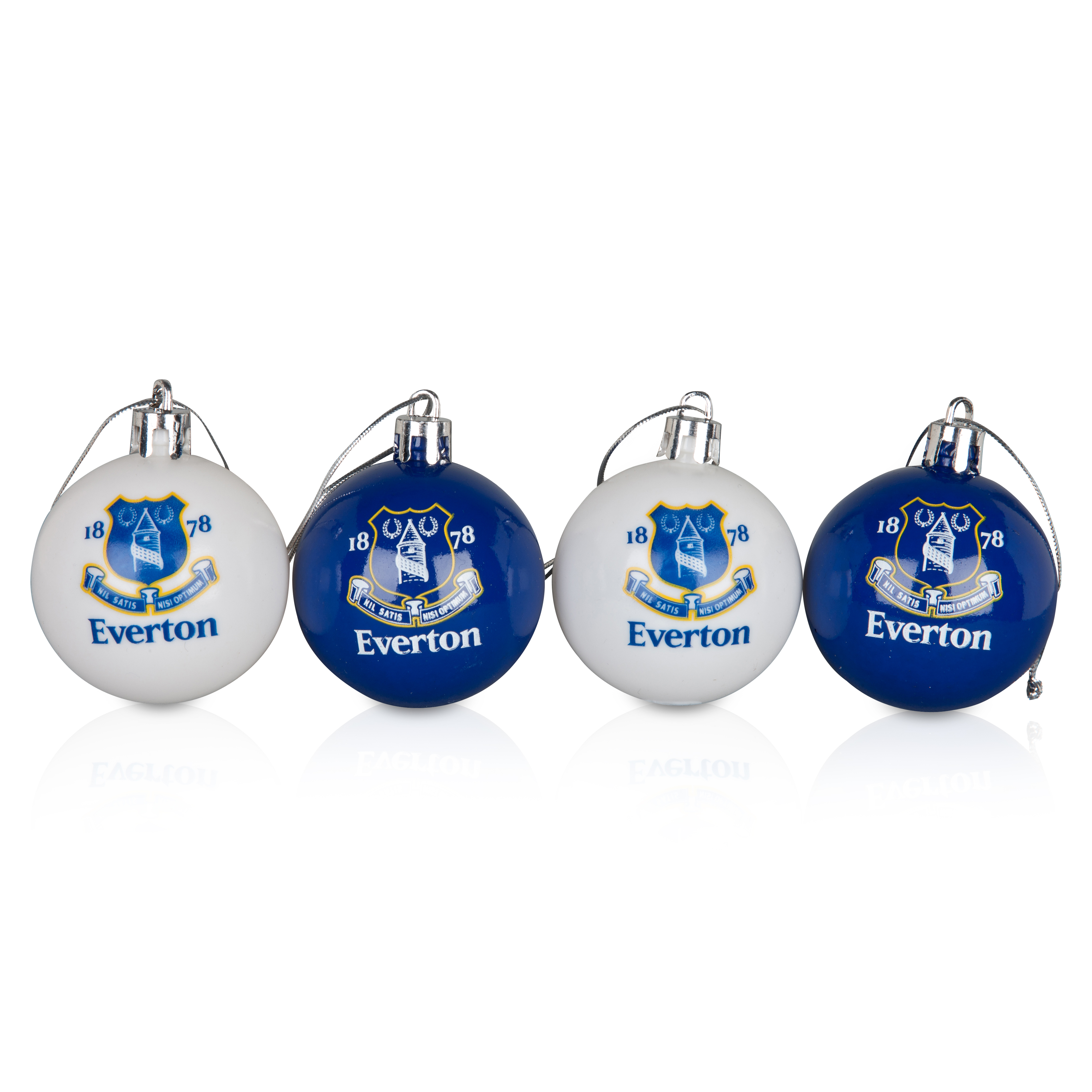 Everton 4 Pack of Plastic Baubles