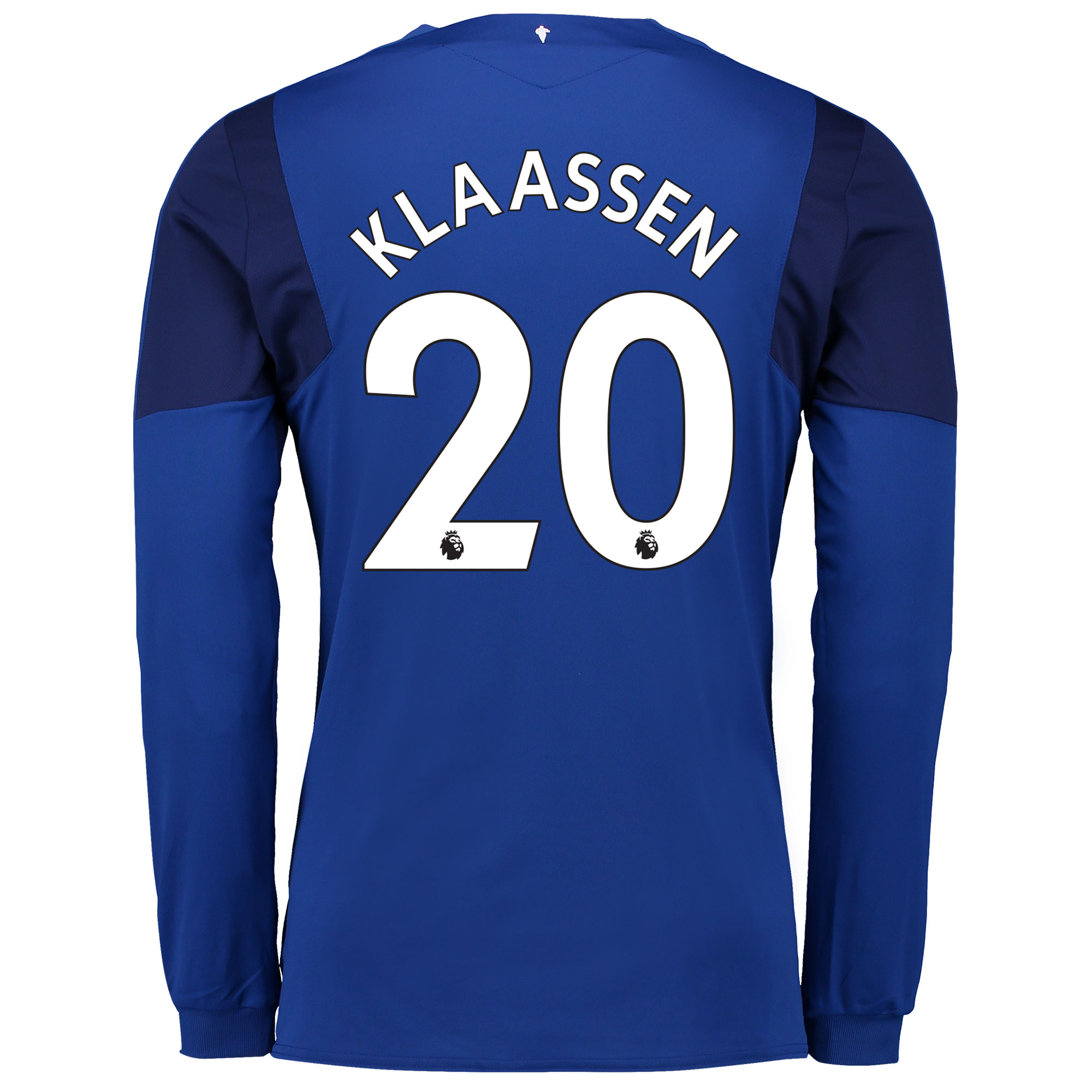 Everton Home Shirt 2017/18 - Long Sleeved with Klaassen 20 printing