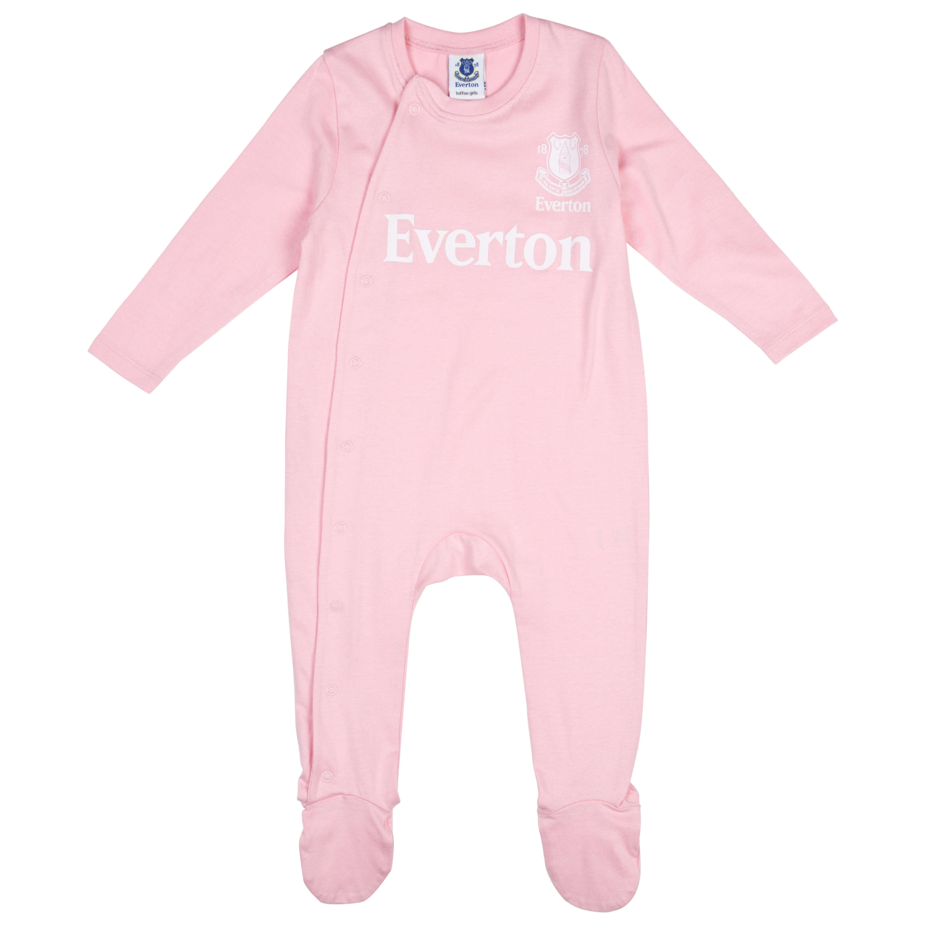 Everton 12/13 Kit Sleepsuit - Pink/White - Baby