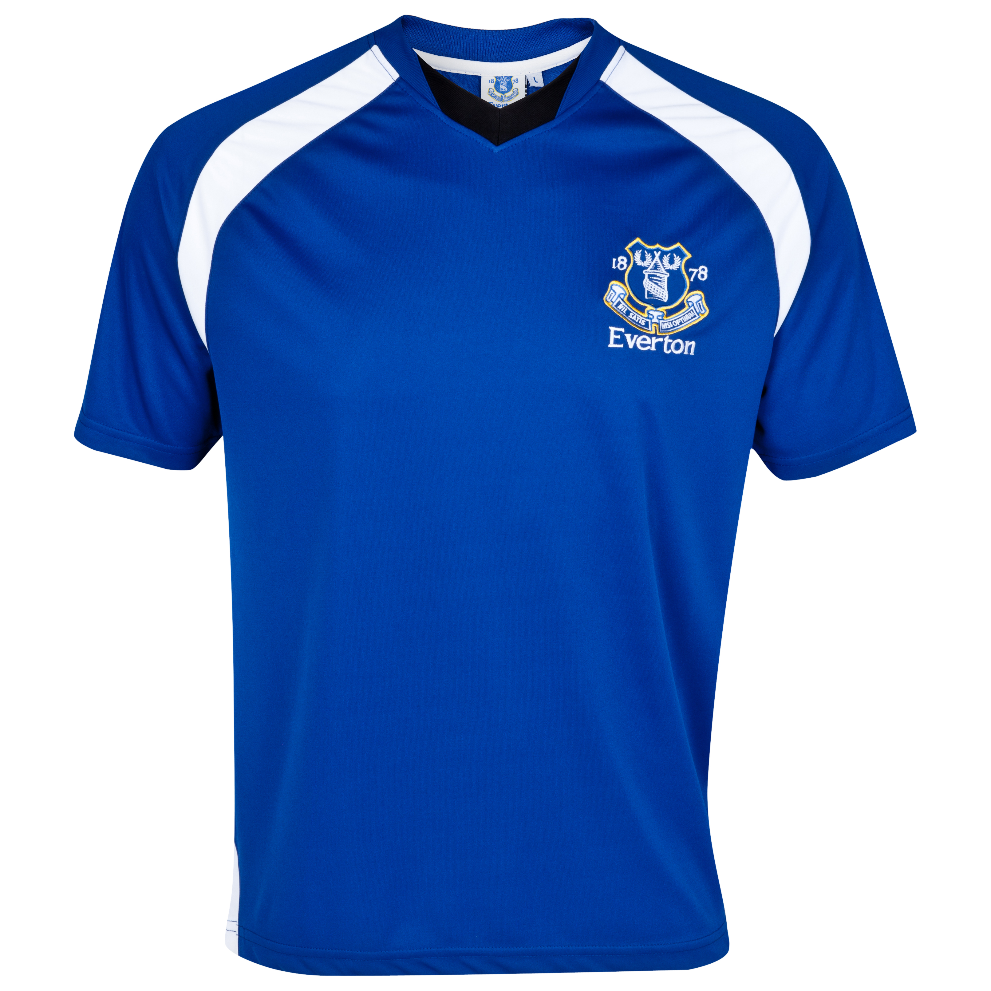 Everton Essential Compete V-Neck Panel T-Shirt - Everton Blue