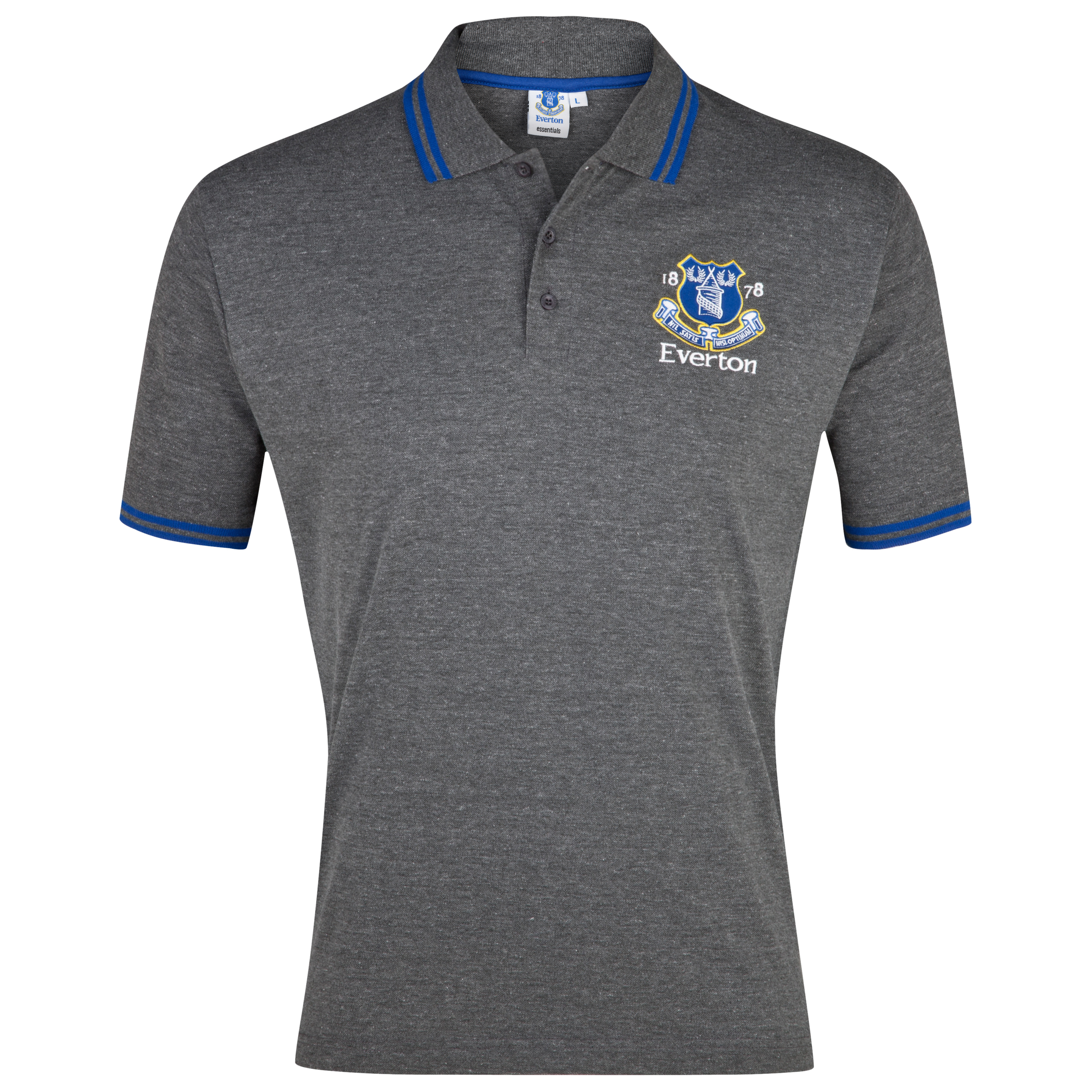 Everton Essential Evolve Crest Polo Top - Charcoal Marl