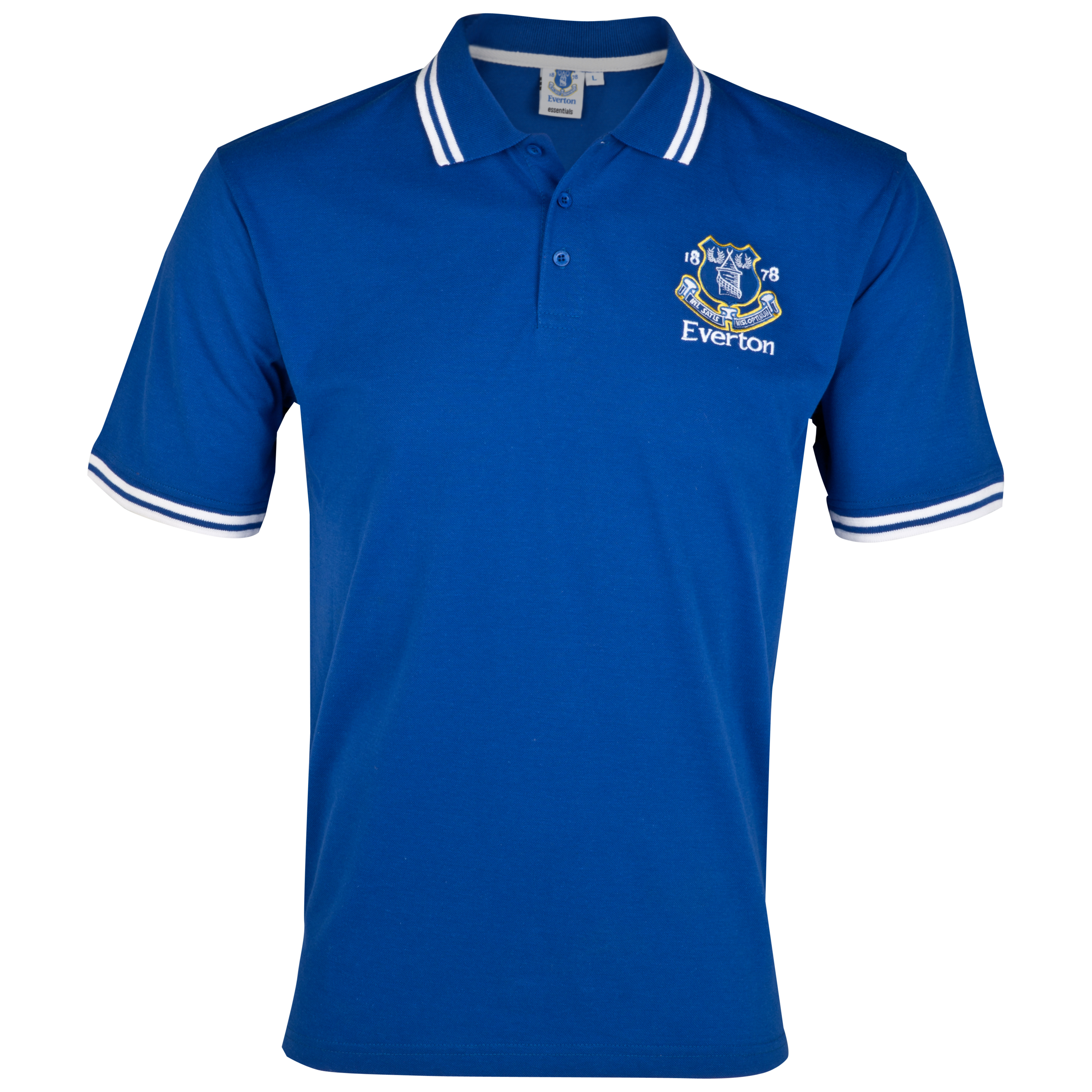 Everton Essential Evolve Crest Polo Top - Everton Blue