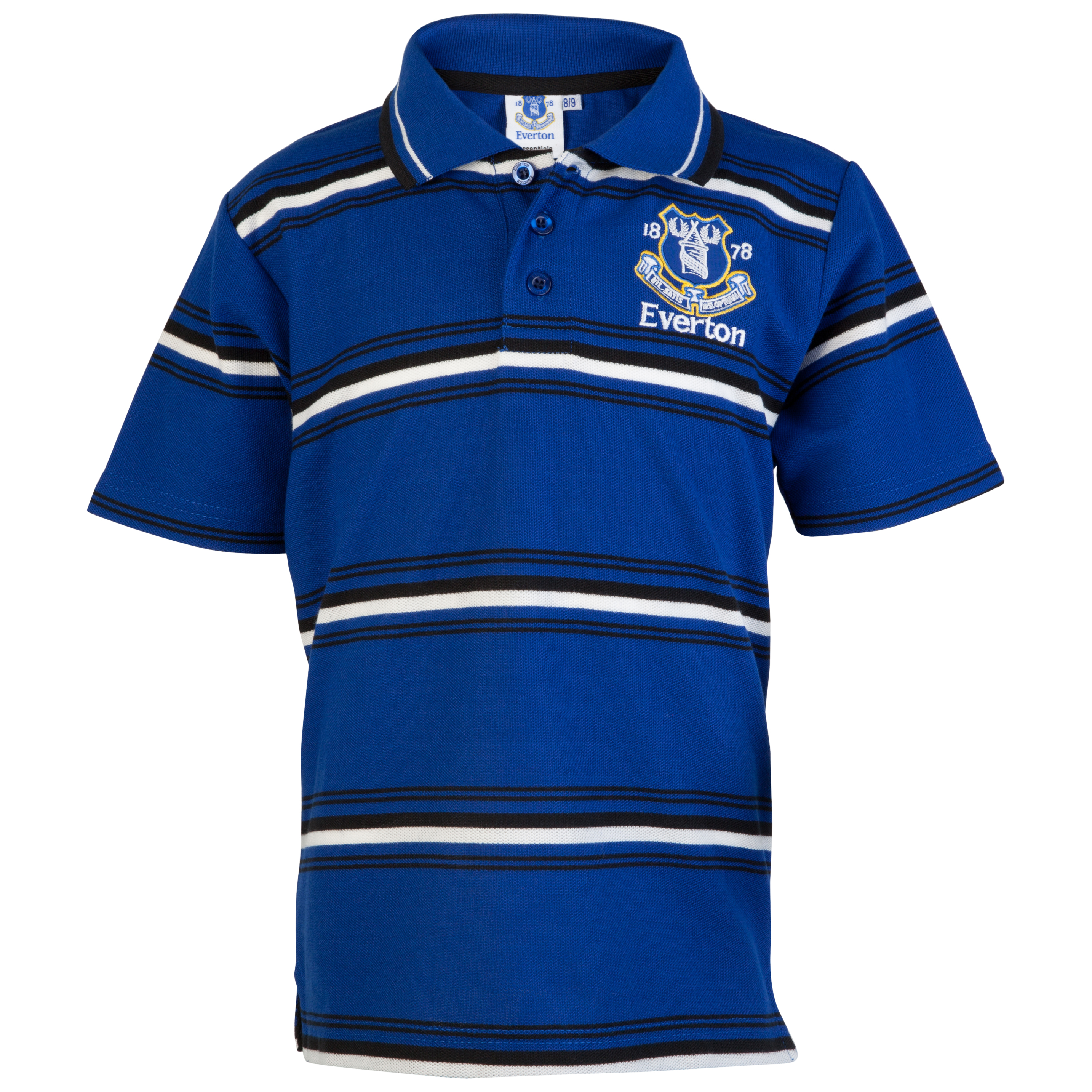 Everton Essential Possession Stripe Polo Top - Everton Blue - Older Boys