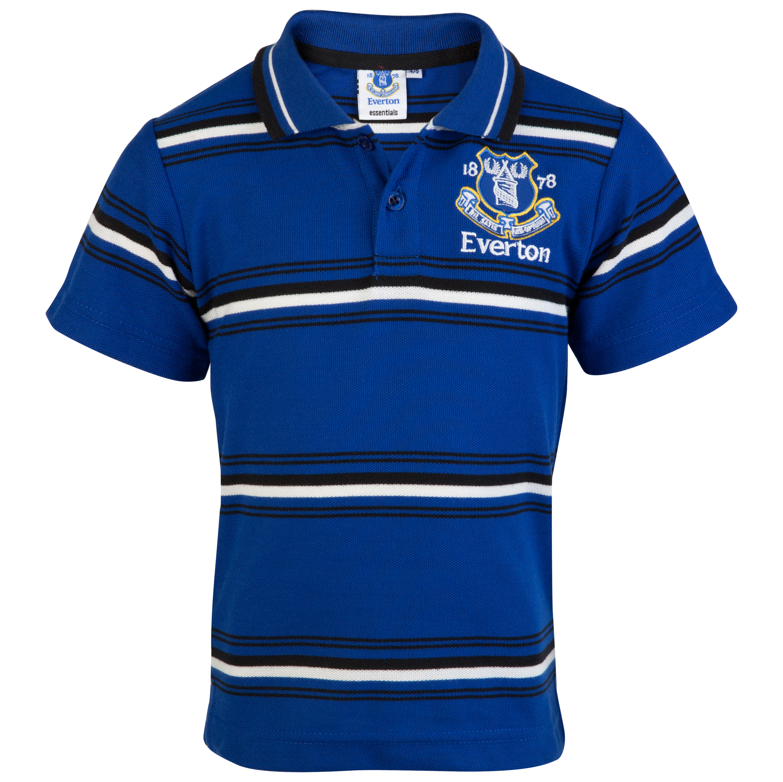 Everton Essential Possession Stripe Polo Top - Everton Blue - Infant Boys
