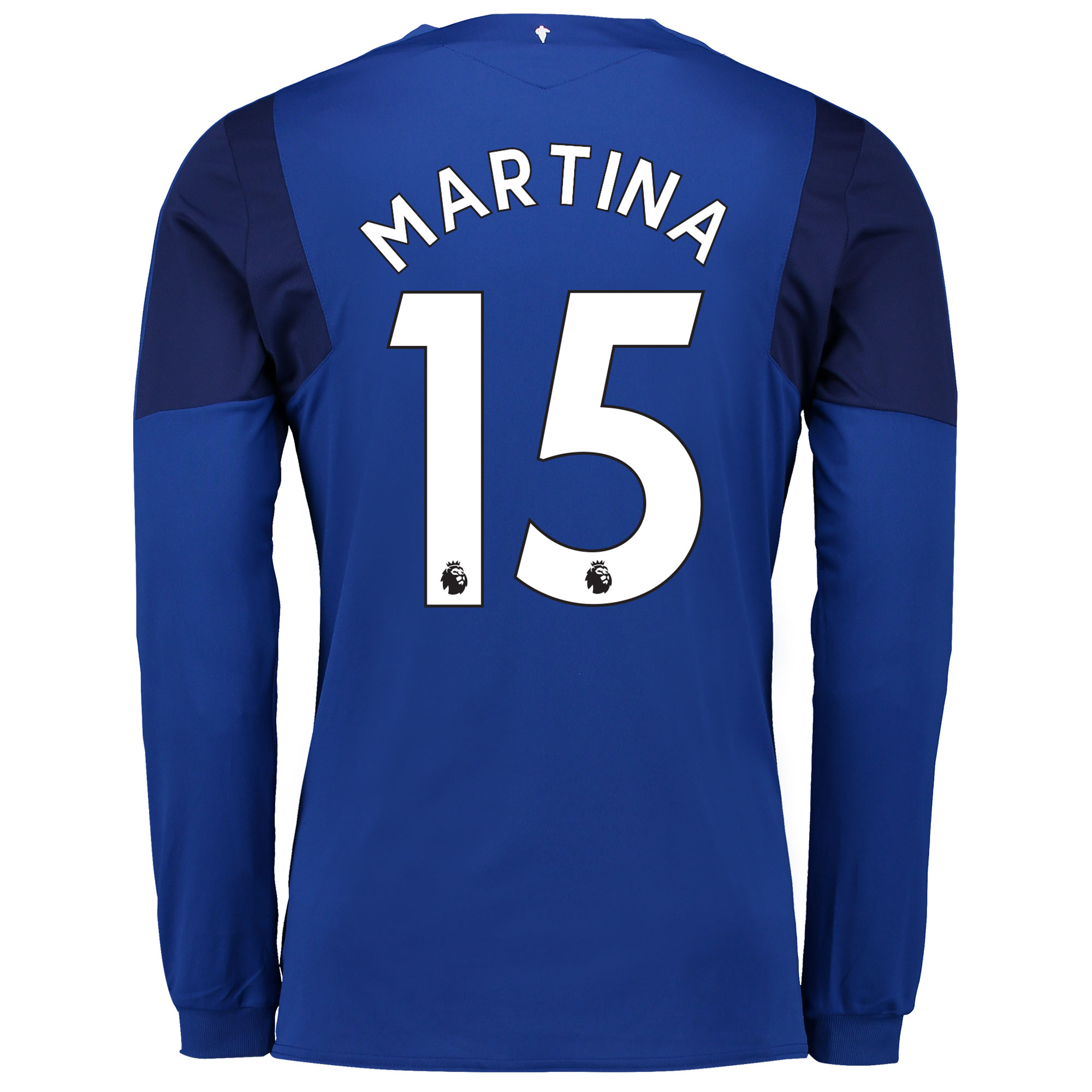 Everton Home Shirt 2017/18 - Junior - Long Sleeved with Martina 15 pri