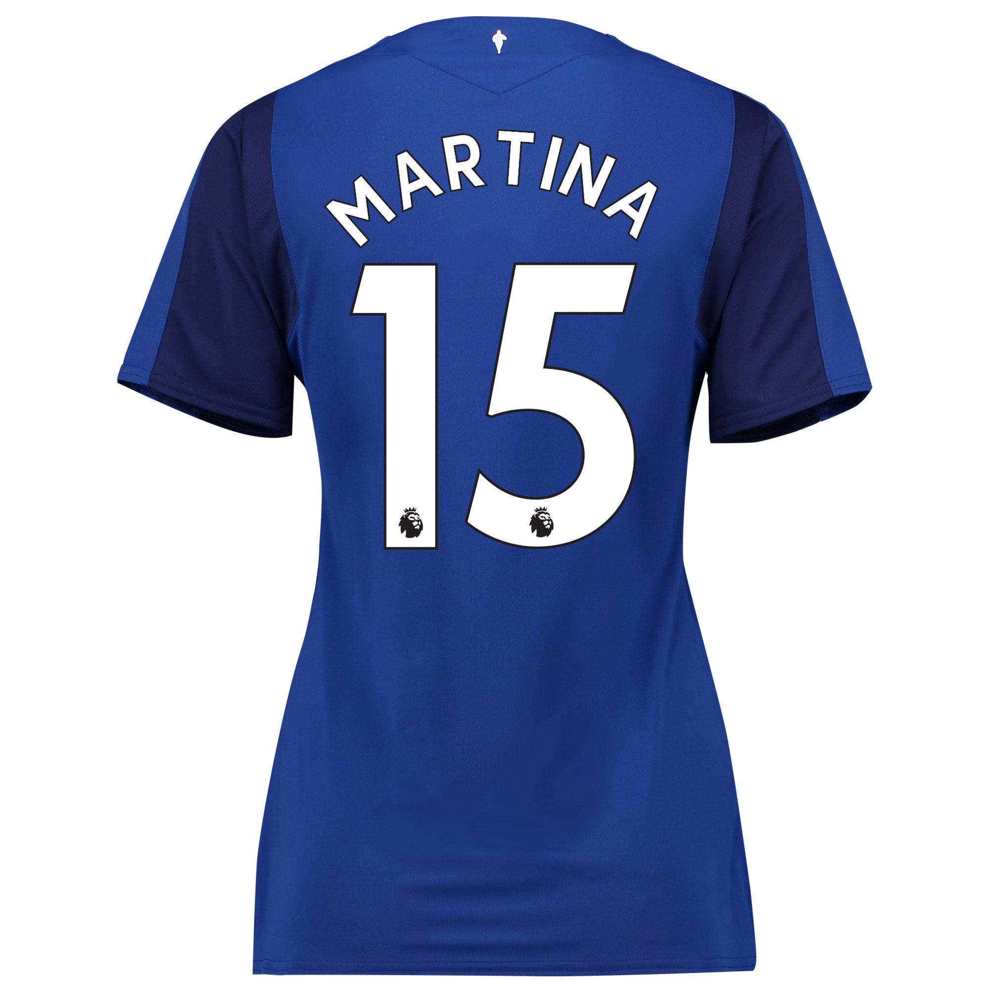Everton Home Shirt 2017/18 - Womens with Martina 15 printing