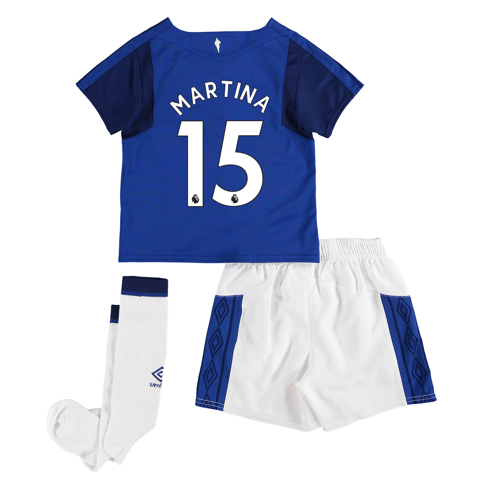 Everton Home Infant Kit 2017/18 with Martina 15 printing