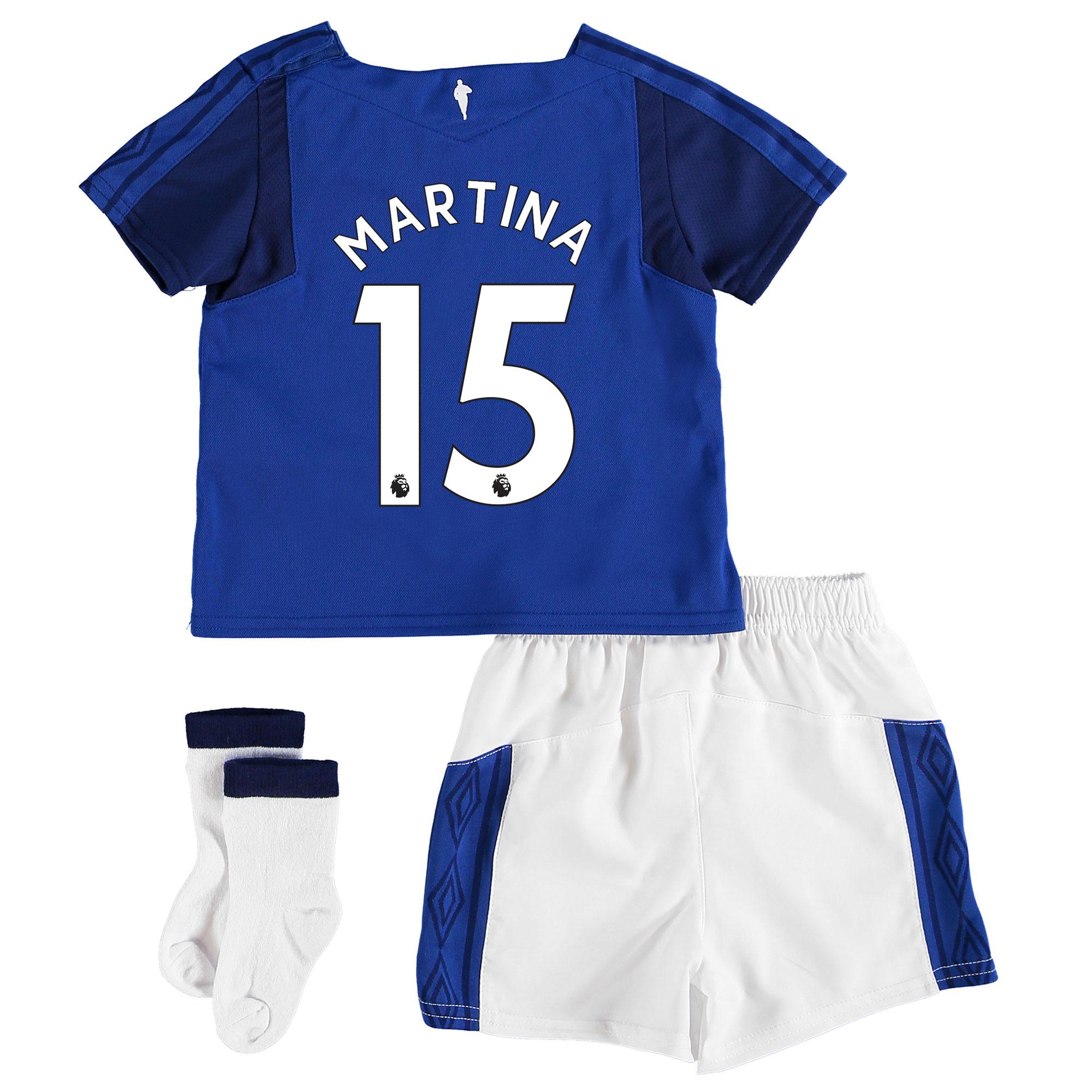 Everton Home Baby Kit 2017/18 with Martina 15 printing