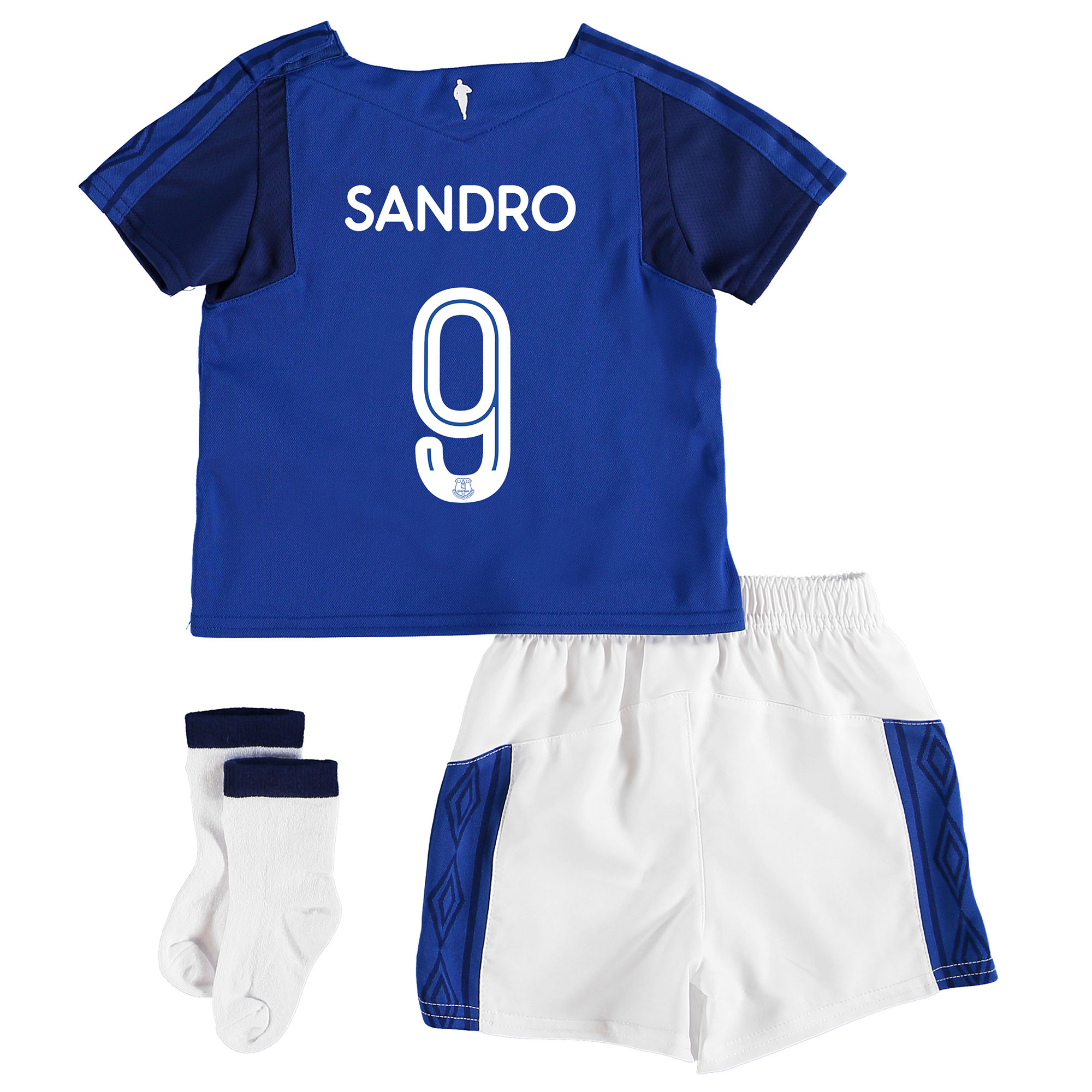 Image of Everton Home Cup Baby Kit 2017/18 with Sandro 9 printing