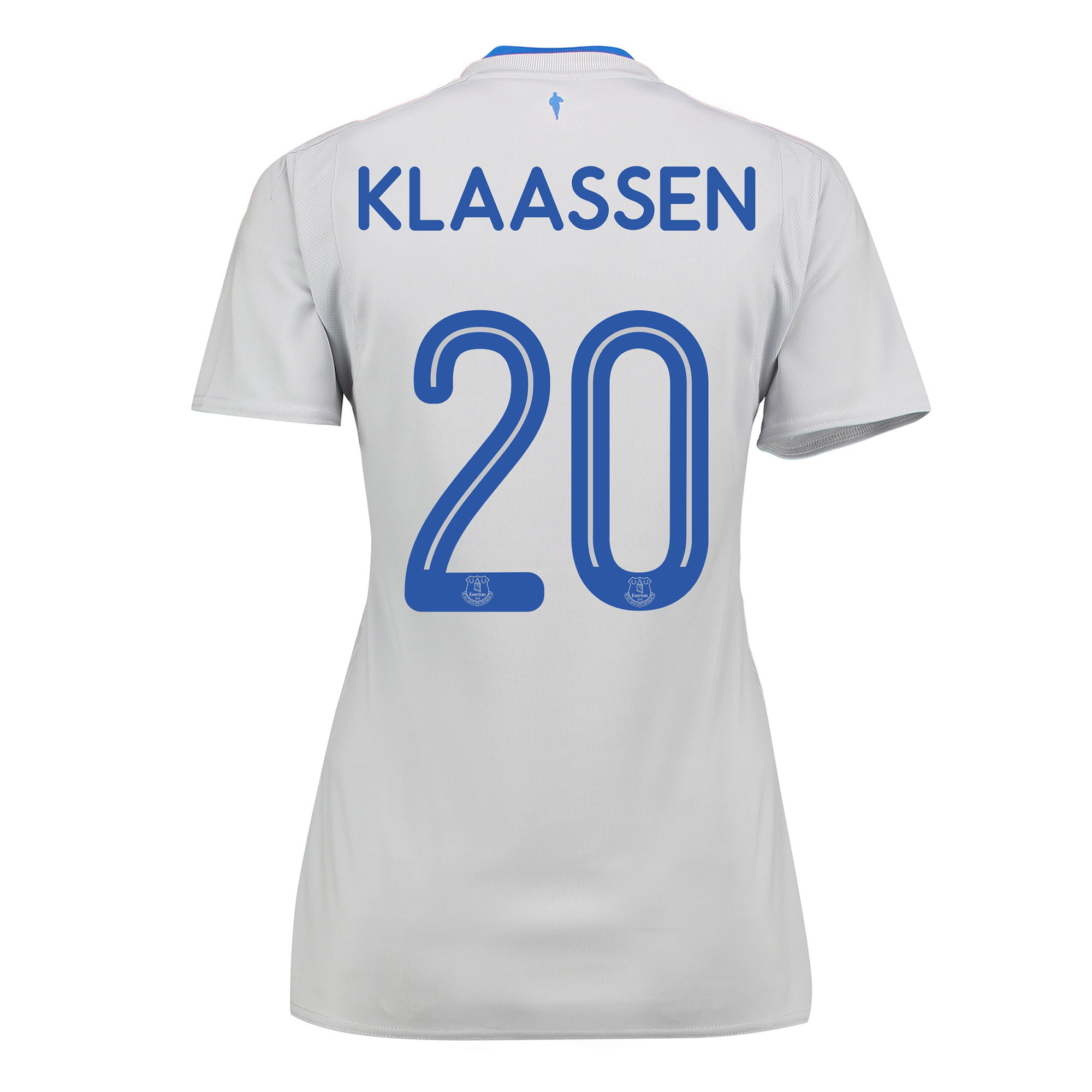 Everton Away Shirt 2017/18 - Womens with Klaassen 20 printing