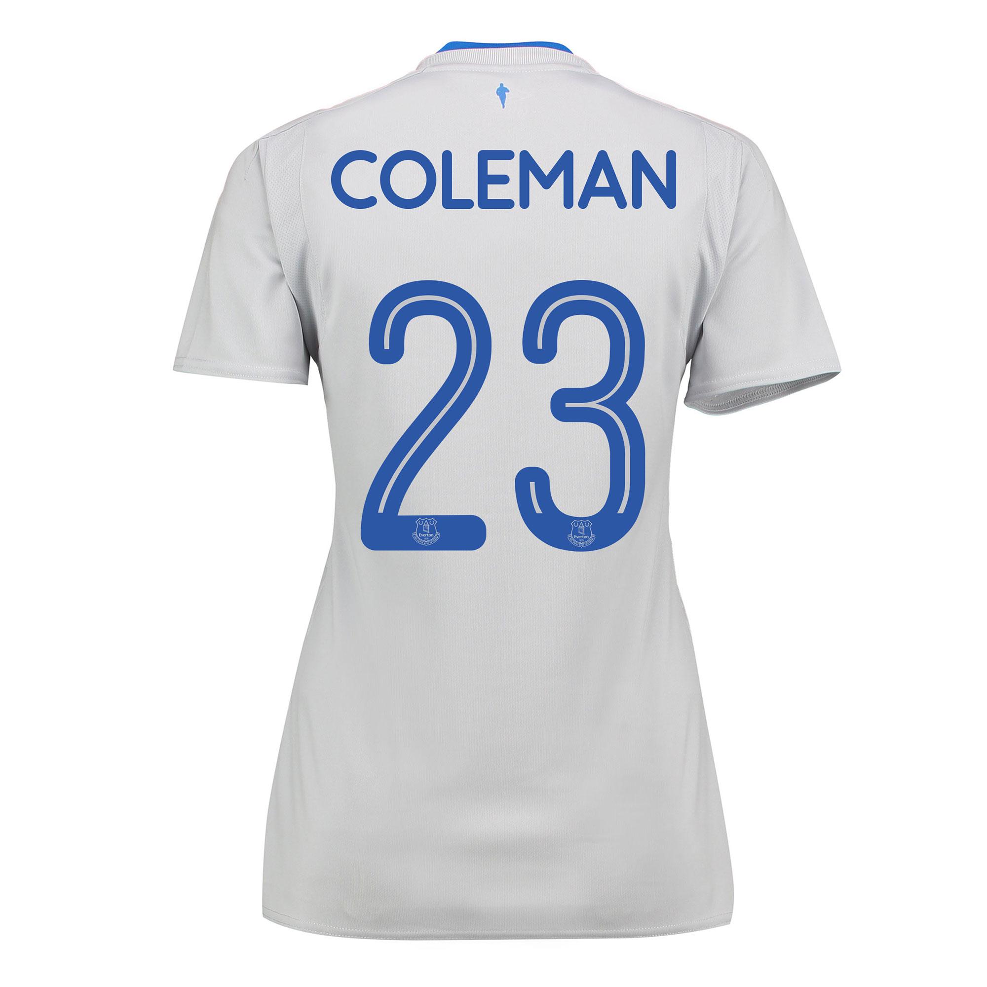 Everton Away Shirt 2017/18 - Womens with Coleman 23 printing