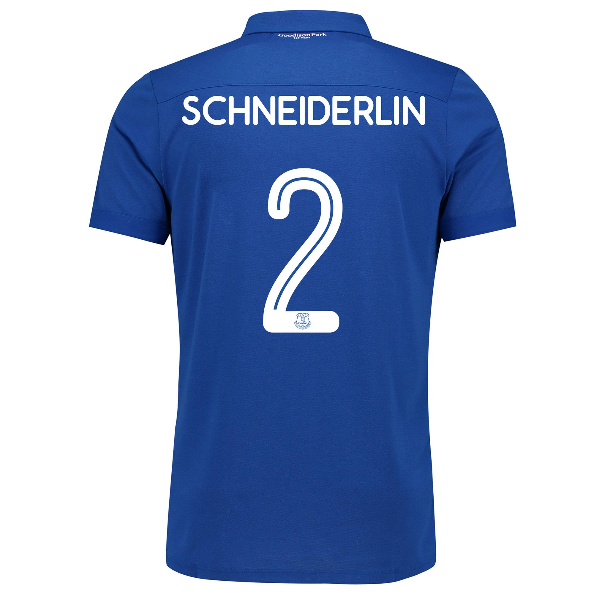 Image of Everton Commemorative Shirt with Schneiderlin 2 printing