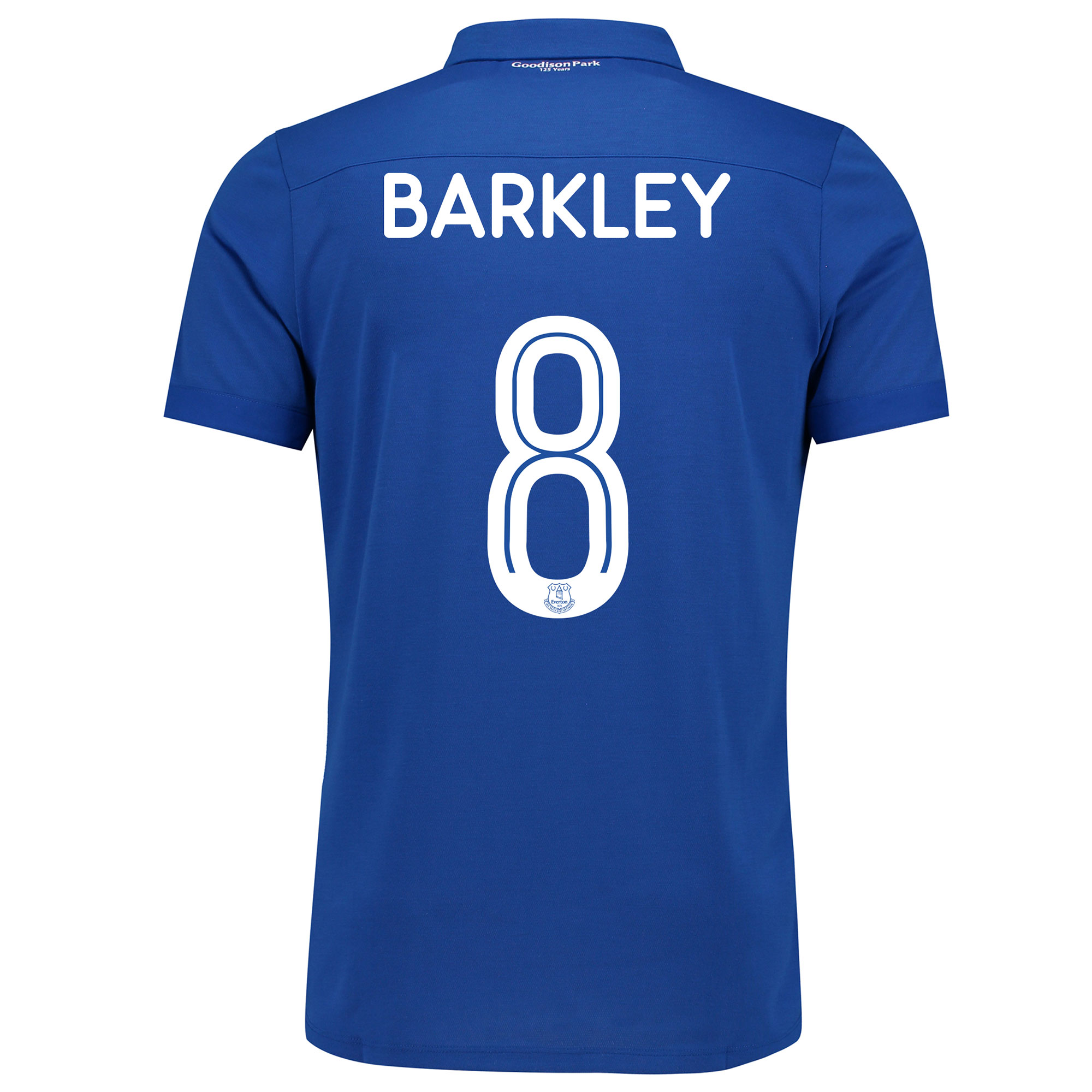 Image of Everton Commemorative Shirt with Barkley 8 printing