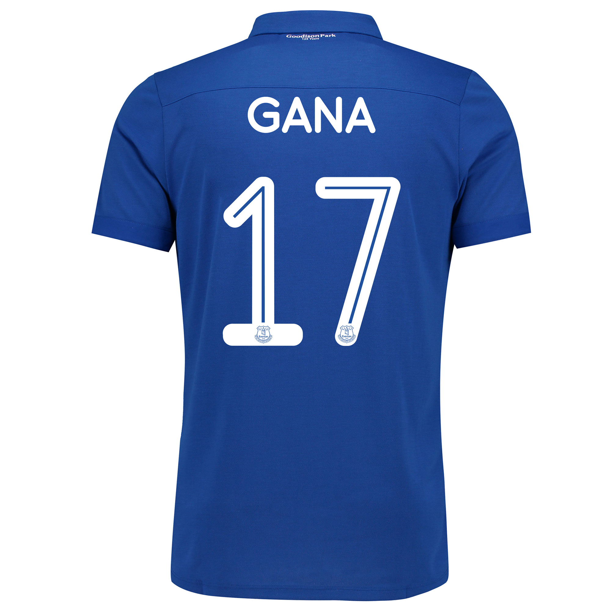 Image of Everton Commemorative Shirt with Gana 17 printing