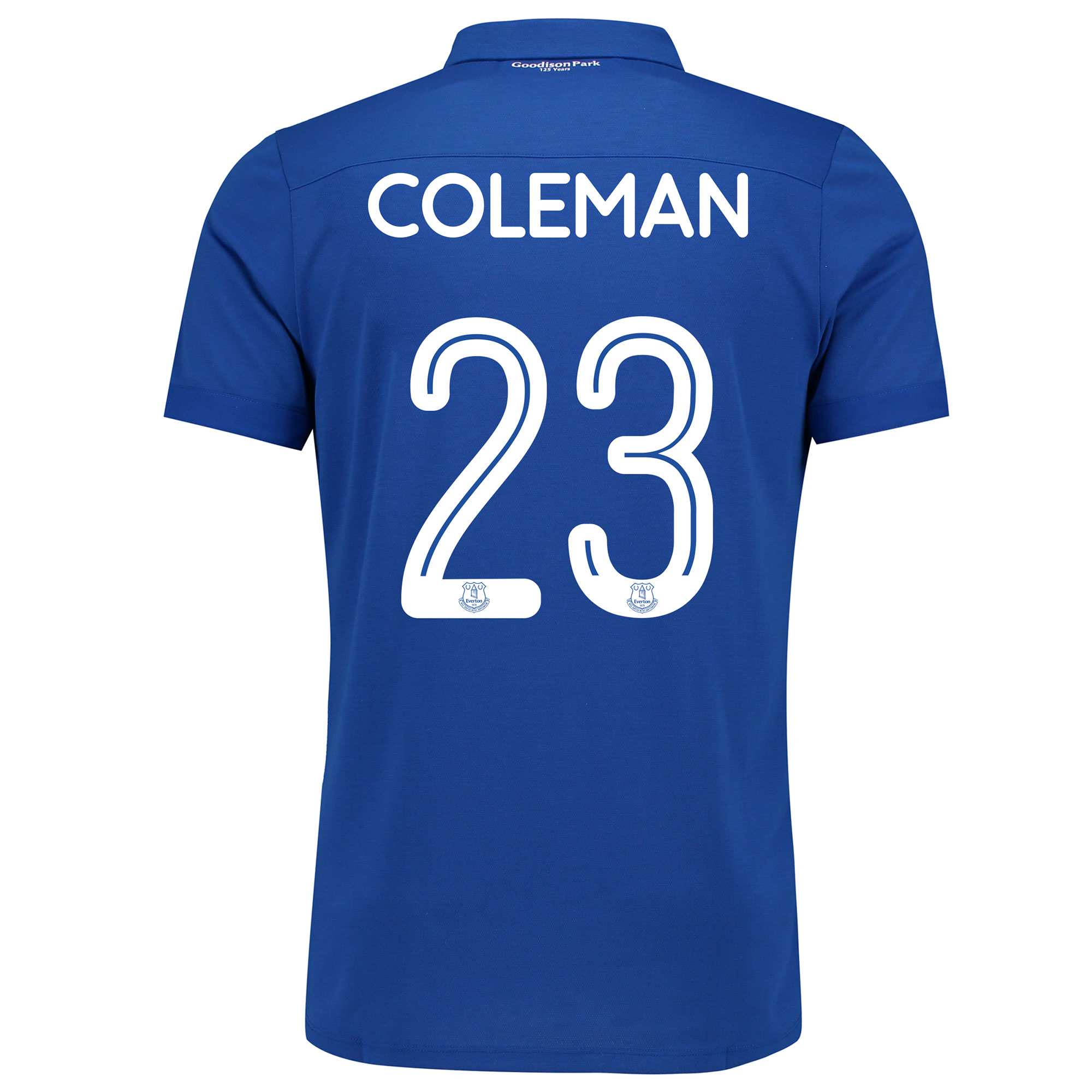 Image of Everton Commemorative Shirt with Coleman 23 printing