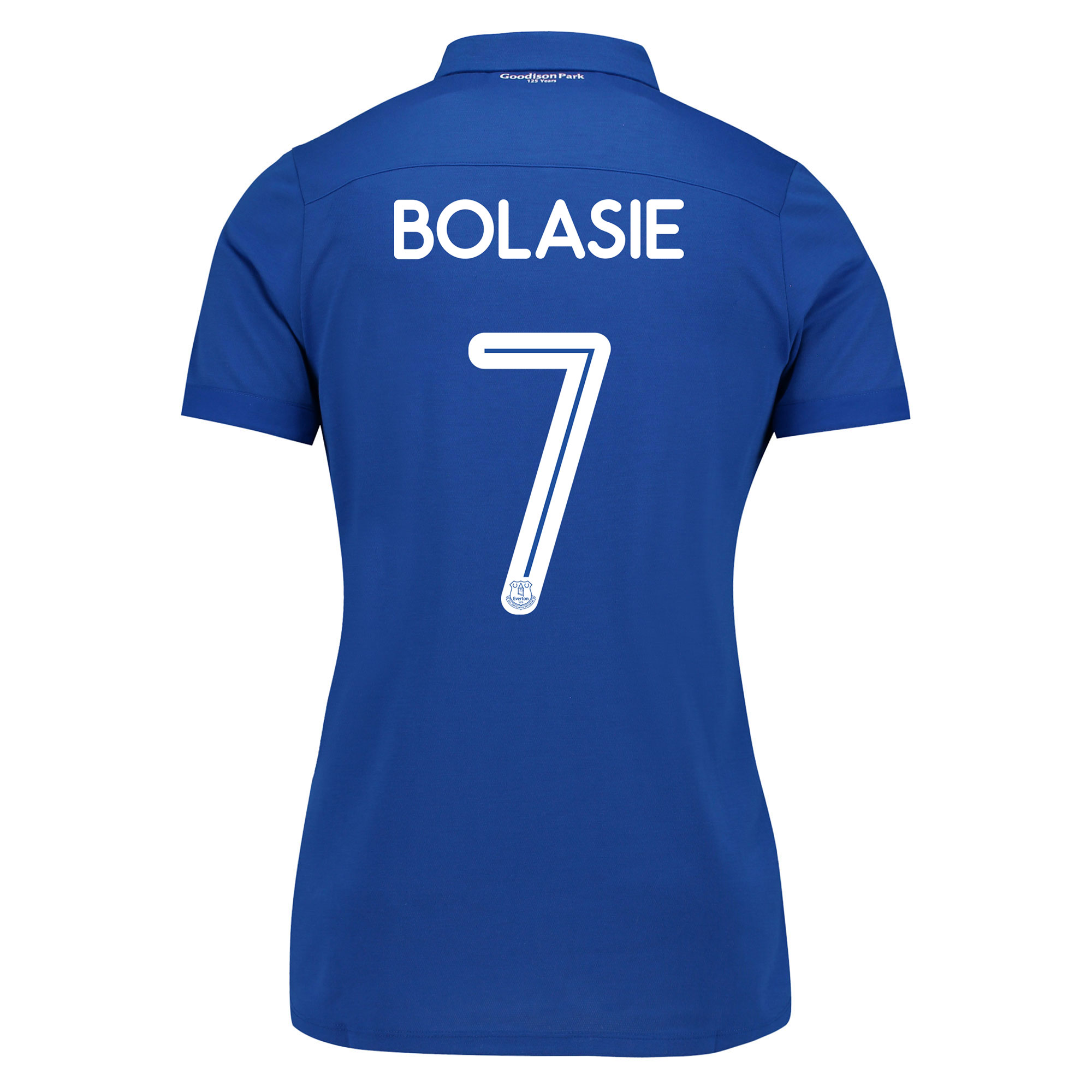 Image of Everton Commemorative Shirt - Womens with Bolasie 7 printing