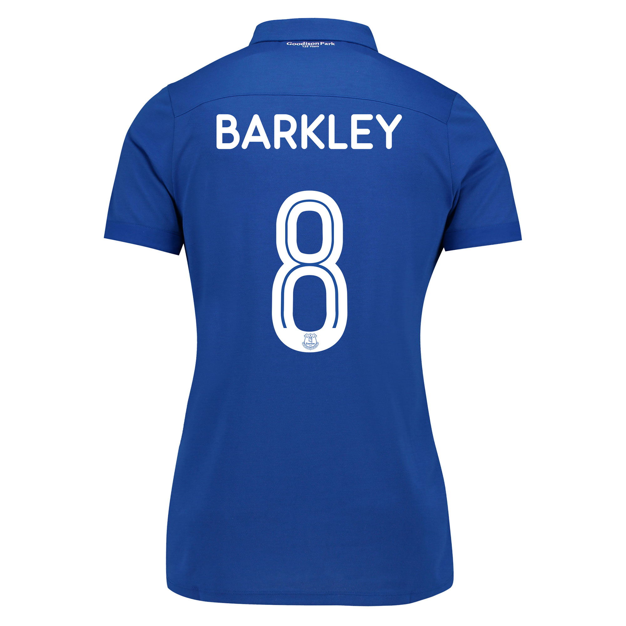 Image of Everton Commemorative Shirt - Womens with Barkley 8 printing